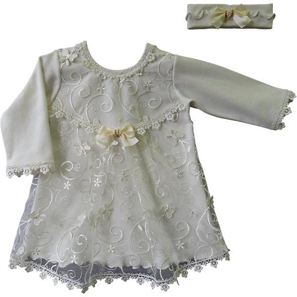 Комплект: платье и позязка на голову  для девочки Soni kidsКомплекты<br>Комплект: платье и позязка на голову   КОМПЛЕКТЫ НА ВЫПИСКУ  для девочки Soni kids <br>Состав: 100% хлопок<br><br>Ширина мм: 157<br>Глубина мм: 13<br>Высота мм: 119<br>Вес г: 200<br>Цвет: белый<br>Возраст от месяцев: 3<br>Возраст до месяцев: 6<br>Пол: Женский<br>Возраст: Детский<br>Размер: 68,62<br>SKU: 4944809