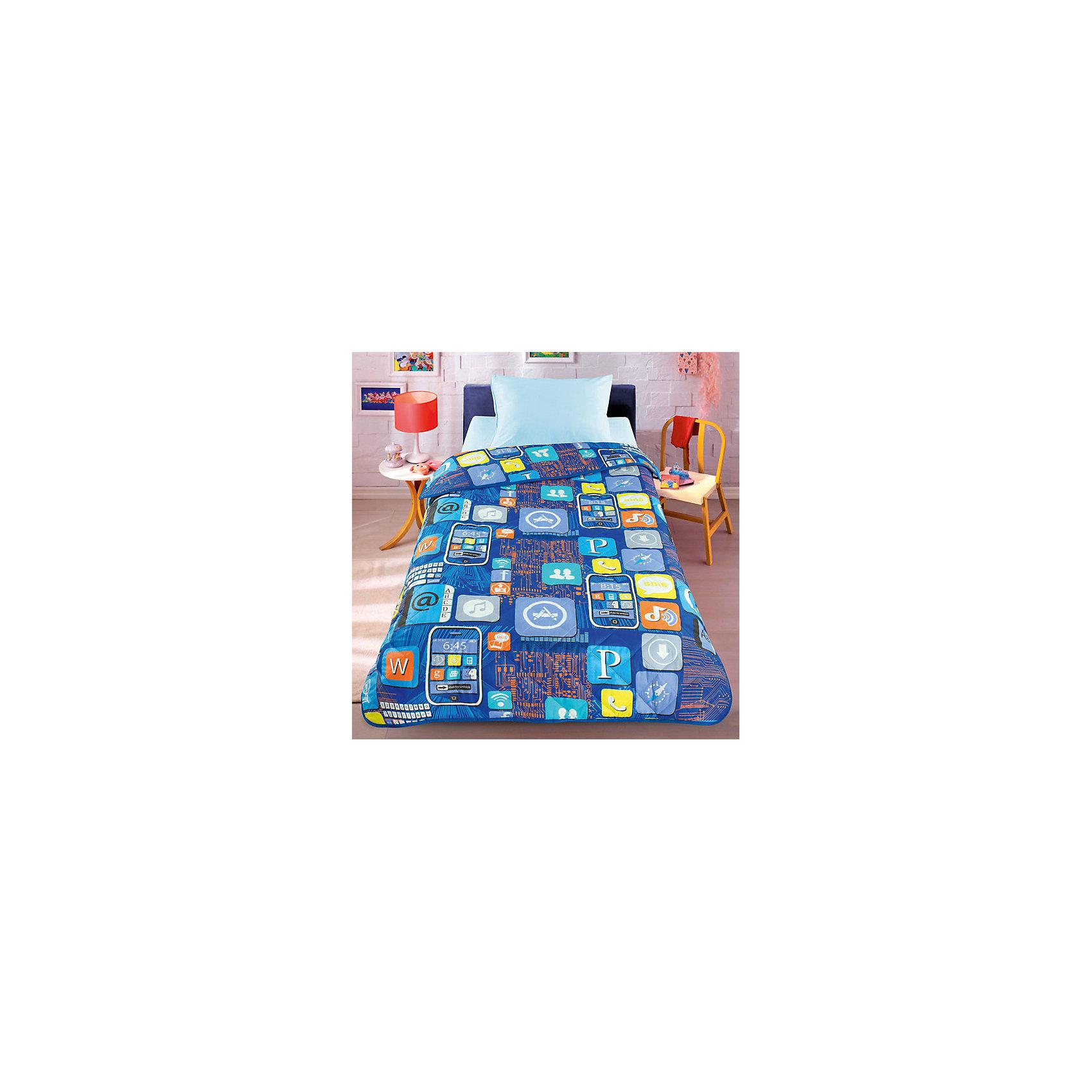 Покрывало-одеяло Смартфон 140*200, стеганное, LettoПокрывало-одеяло Смартфон 140*200, стеганное, Letto – это прекрасный вариант для детской комнаты.<br>Яркое стеганое покрывало-одеяло отлично впишется в интерьер детской комнаты. Оно выполнено из 100% хлопка (перкаль), наполнитель - силиконизированное волокно. Сидеть на таком покрывале приятно и комфортно. Покрывало можно использовать как одеяло, под ним ребенку не будет жарко даже летом.<br><br>Дополнительная информация:<br><br>- Размер: 140х210 см.<br>- Материал: перкаль (100% хлопок)<br>- Наполнитель: силиконизированное волокно<br>- Уход: машинная стирка при температуре 30 градусов, строго на деликатном режиме<br><br>Покрывало-одеяло Смартфон 140*200, стеганное, Letto можно купить в нашем интернет-магазине.<br><br>Ширина мм: 400<br>Глубина мм: 100<br>Высота мм: 500<br>Вес г: 1200<br>Возраст от месяцев: 36<br>Возраст до месяцев: 144<br>Пол: Унисекс<br>Возраст: Детский<br>SKU: 4947799