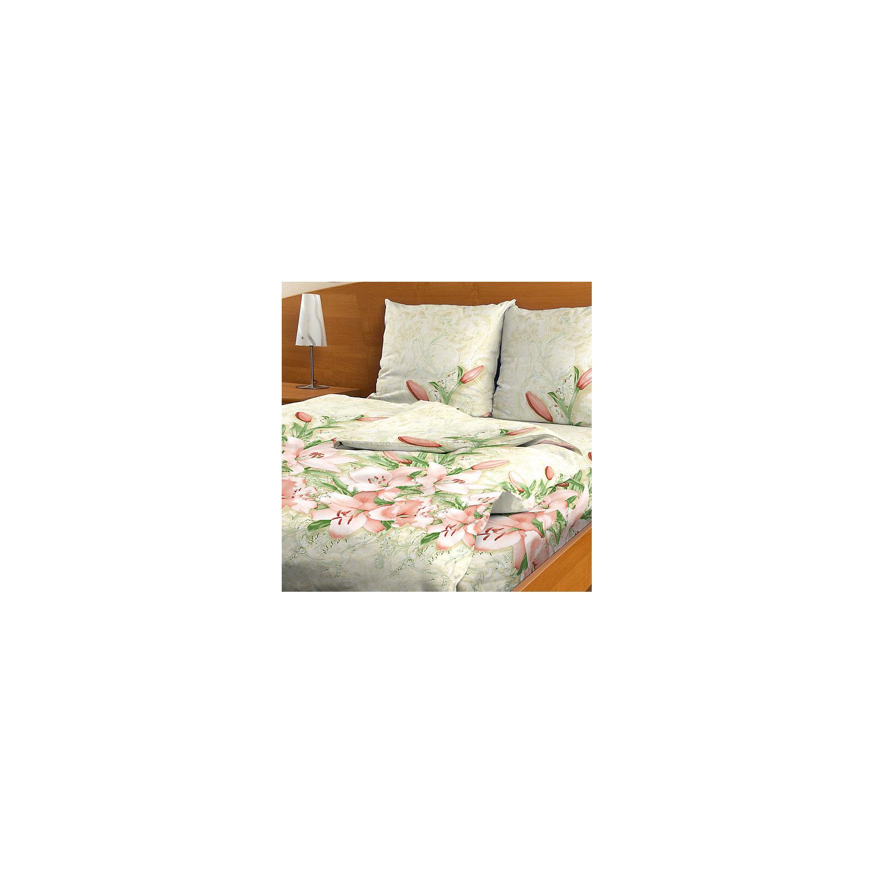 постельное белье эго комплект 1 5 спальный бязь Letto Постельное белье 1,5 бязь B47, Letto (70*70)