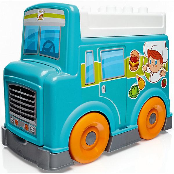Игровой набор Продуктовый фургон, MEGA BLOKSПластмассовые конструкторы<br>Характеристики товара:<br><br>• возраст: от 1 года;<br>• материал: пластик;<br>• количество деталей: 32 шт.;<br>• в наборе: фургон, аксессуары;<br>• высота фургона: 45 см;<br>• размер упаковки: 46х25х36 см.;<br>• вес упаковки: 1,36 кг.;<br>• страна бренда: Канада.<br><br>Из конструктора Mega Bloks «Продуктовый фургон» получится красочная передвижная кухня с варочной поверхностью, полочками и секциями для хранения всевозможных кухонных принадлежностей.<br><br>Крупные элементы из набора просто соединяются друг с другом. Большой фургон легко передвигается по ровной поверхности. С игрушкой интересно придумывать сюжетные игры для развития воображения и социальных навыков.<br><br>Особенности и функционал:<br><br>• конструктор 2 в 1: фургон/передвижная кухня;<br>• в наборе предметы, имитирующие еду.<br><br>Игровой набор «Продуктовый фургон», Mega Bloks можно купить в нашем интернет-магазине.<br>Ширина мм: 365; Глубина мм: 255; Высота мм: 455; Вес г: 3015; Возраст от месяцев: 12; Возраст до месяцев: 60; Пол: Мужской; Возраст: Детский; SKU: 4947819;