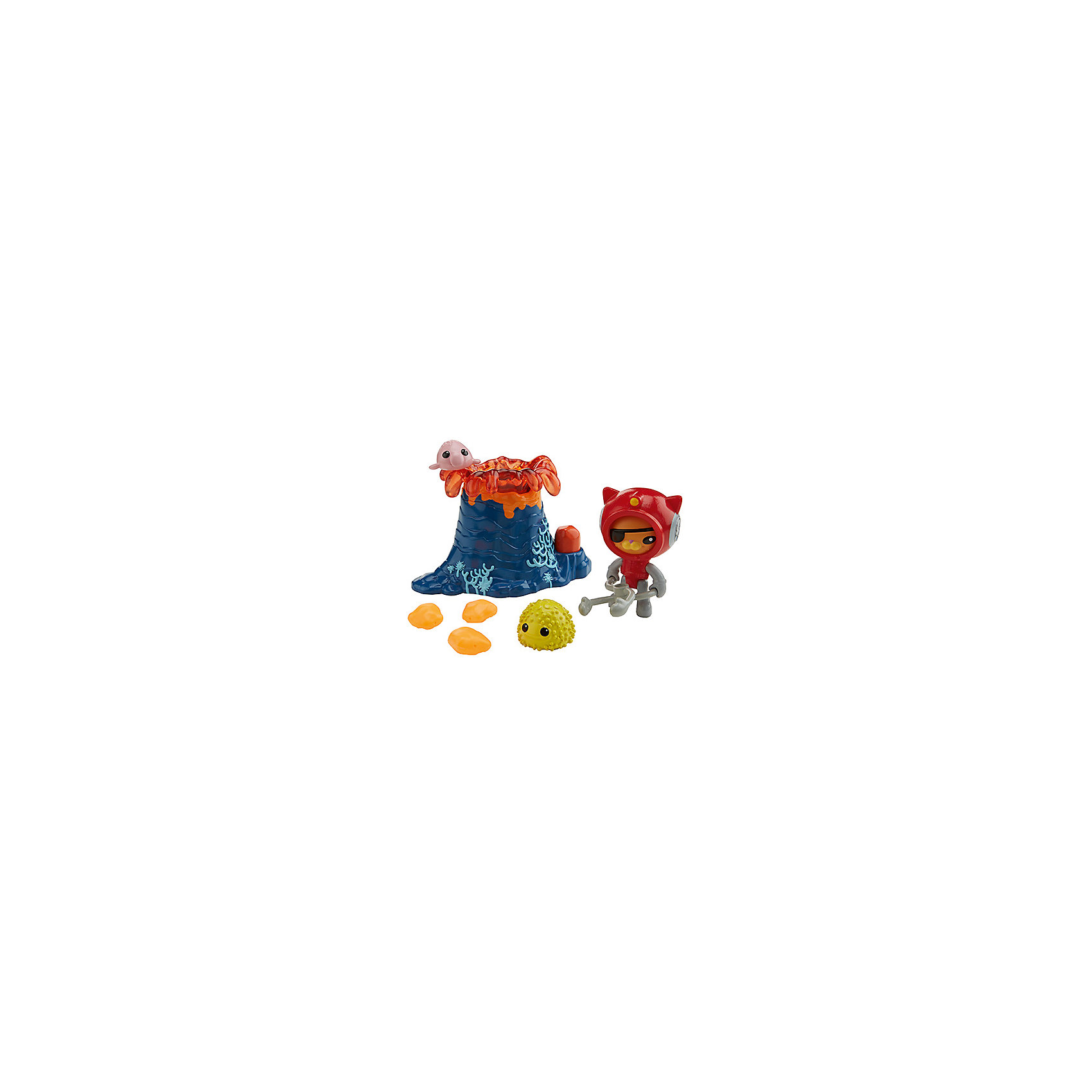 Набор фигурок с транспортом, Октонавты, Fisher PriceКоллекционные и игровые фигурки<br>Набор фигурок с транспортом, Октонавты, Fisher Price (Фишер Прайс)<br><br>Характеристики:<br><br>• в комплекте: фигурка Квази, вулкан, морской ёж, рыбка, 3 куска лавы, инструмент спасателя<br>• размер упаковки: 16,5х6,5х30 см<br>• вес: 200 грамм<br>• материал: пластик<br><br>Кот Квази - один из членов отряда Октонавтов. Он очень любит исследовать морские глубины и помогать тем, кто попал в неприятную ситуацию. В набор от Фишер Прайс входит всё необходимое для создания увлекательного путешествия Квази. Ребенок сможет изобразить извержение вулкана, от которого могут пострадать рыбка и морской ёж. Но, конечно же, отважный Квази придет к ним на помощь, а специальный инструмент поможет ему. С таким прекрасным набором ребенок весело проведет время!<br><br>Набор фигурок с транспортом, Октонавты, Fisher Price (Фишер Прайс) вы можете купить в нашем интернет-магазине.<br><br>Ширина мм: 240<br>Глубина мм: 40<br>Высота мм: 275<br>Вес г: 261<br>Возраст от месяцев: 36<br>Возраст до месяцев: 60<br>Пол: Мужской<br>Возраст: Детский<br>SKU: 4947829