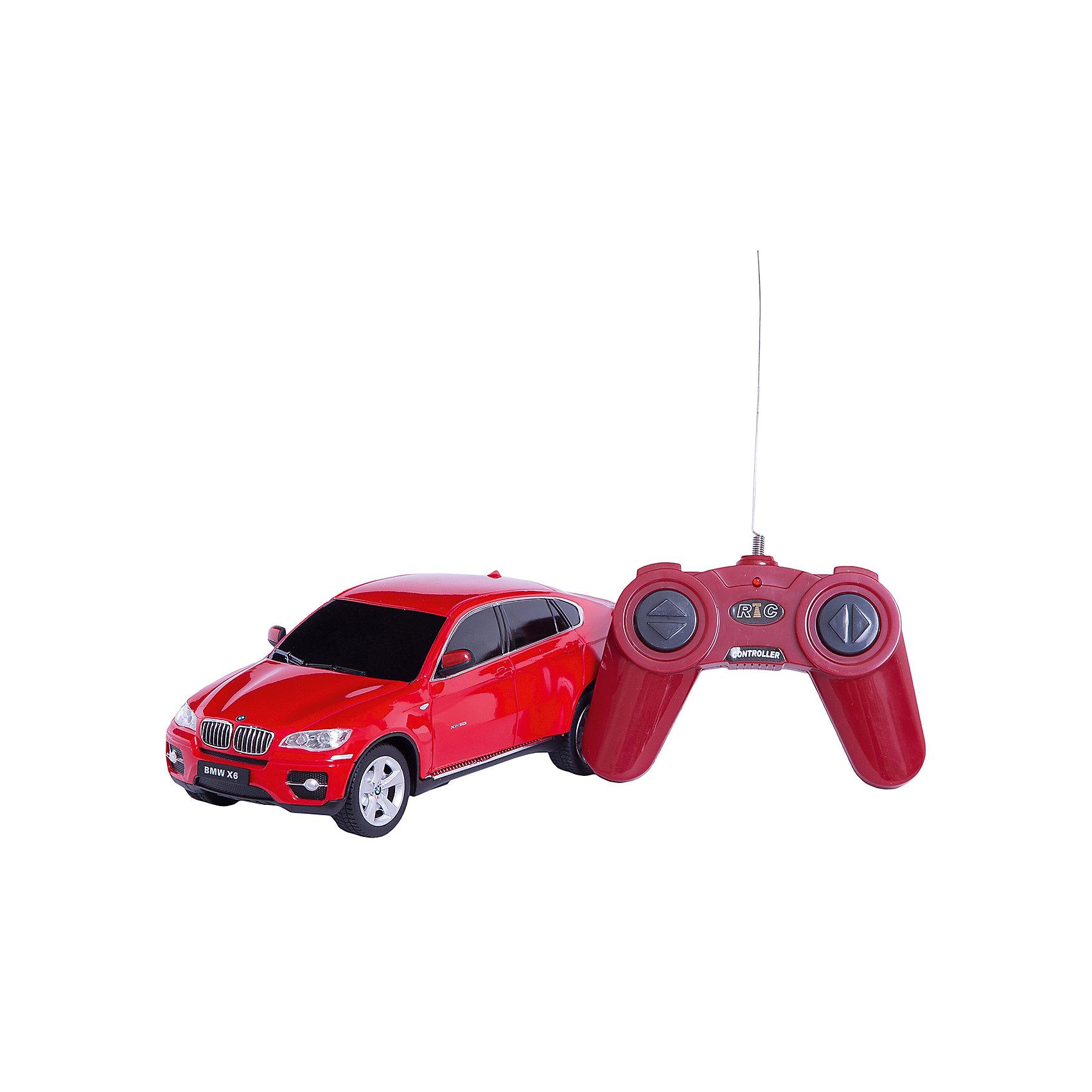 Машина bmw x6, 1:24, Р/у, со светом, RASTAR , в ассортиментеМашинки<br>Машина bmw x6, 1:24, Р/у, со светом, RASTAR , в ассортименте<br><br>Характеристики:<br><br>• Модель: bmw x6<br>• Материал: пластик, металл<br>• Размер упаковки: 7х13х18 см<br>• Размер машинки: 13х4 см<br><br>Машинка полностью повторяет внешний вид настоящей машины bmw x6. Она сможет дополнить коллекцию автомобилей или просто разнообразит игру ребенка. Игрушка сделана из качественного материала, который не только не вреден ребенку, но и очень крепок. В машинке открываются дверки и инерционный механизм. Кроме этого она оснащена звуковым и световым сопровождением.<br><br>Машина bmw x6, 1:24, Р/у, со светом, RASTAR , в ассортименте можно купить в нашем интернет-магазине.<br><br>Ширина мм: 140<br>Глубина мм: 290<br>Высота мм: 120<br>Вес г: 440<br>Возраст от месяцев: 72<br>Возраст до месяцев: 180<br>Пол: Мужской<br>Возраст: Детский<br>SKU: 4950401