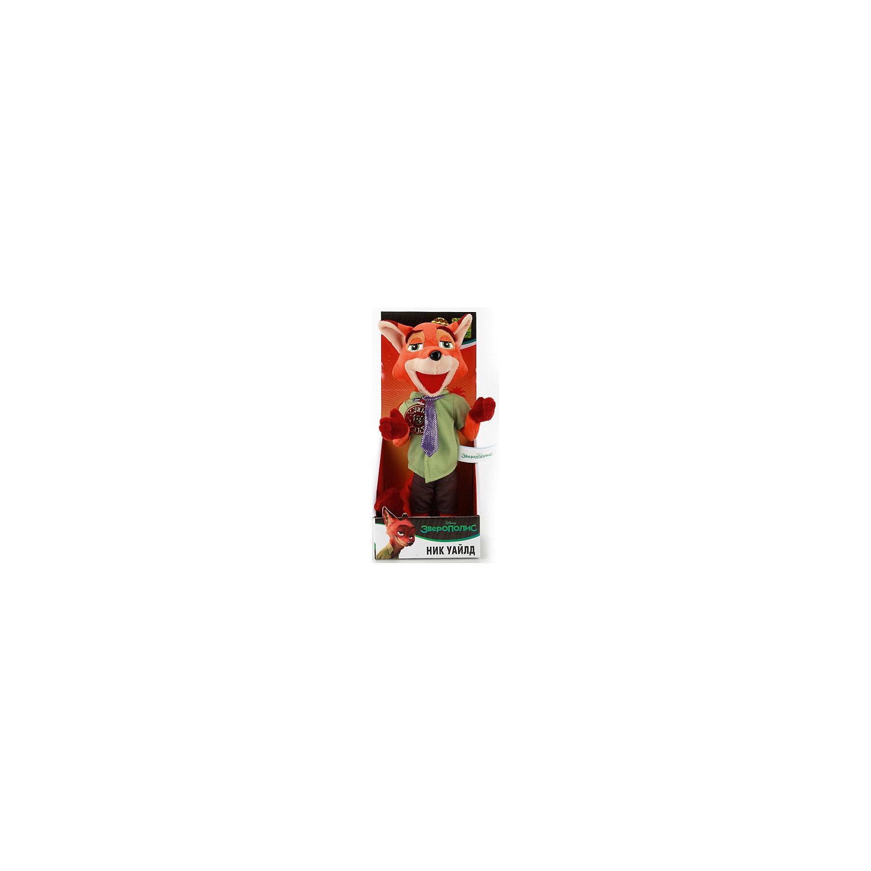 МУЛЬТИ-ПУЛЬТИ Мягкая игрушка Ник Уайлд, 25см, Зверополис, МУЛЬТИ-ПУЛЬТИ мульти пульти мягкая игрушка крокодильчик свомпи where is my water со звуком 20 см мульти пульти