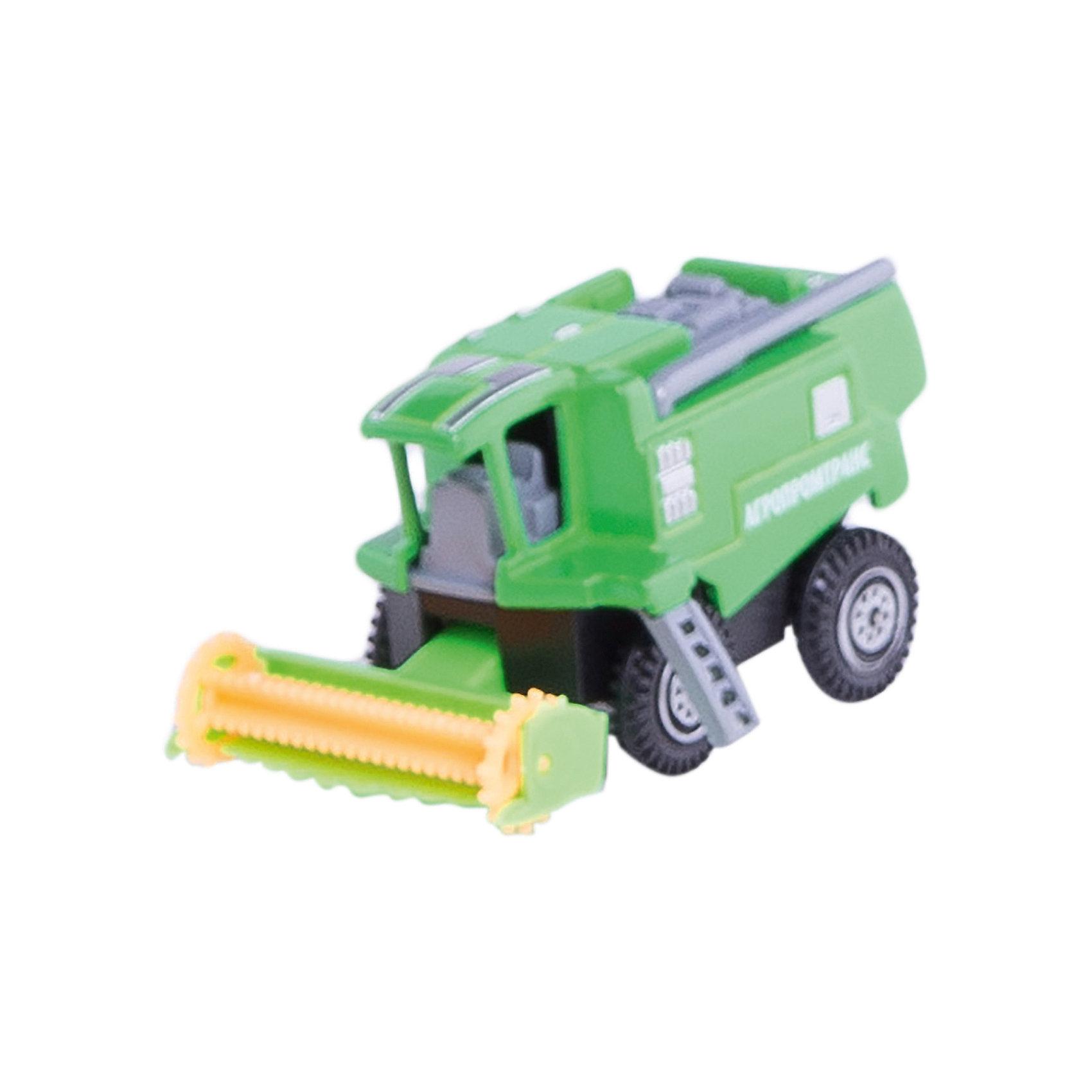 Комбайн, 7,5см, ТЕХНОПАРККомбайн, 7,5см, ТЕХНОПАРК<br><br>Характеристики:<br><br>• Возраст: от 3 лет<br>• Цвет: зеленый<br>• Материал: пластик, металл<br>• Размер игрушки: 5х11х9<br><br>Высококачественная сборка машинки позволит ребенку играть, не боясь, что что-то сломается в процессе. Крепкие колеса и схожесть с настоящим трактором сделает игру более реальной. С помощью такого трактора ребенок сможет узнать обо всех функциях, которые выполняет настоящий комбайн. Игрушка не потеряет цвет и не выделяет токсичных веществ, поэтому полностью безопасна для детей.<br><br>Комбайн, 7,5см, ТЕХНОПАРК можно купить в нашем интернет-магазине.<br><br>Ширина мм: 100<br>Глубина мм: 60<br>Высота мм: 120<br>Вес г: 80<br>Возраст от месяцев: 36<br>Возраст до месяцев: 9<br>Пол: Мужской<br>Возраст: Детский<br>SKU: 4950440