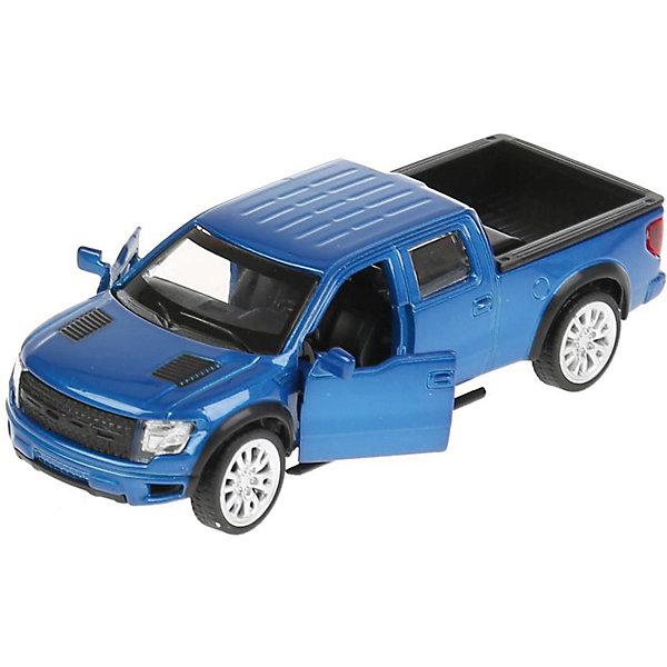 Машина ford f-150 svt raptor, открыв. двери, ТЕХНОПАРКМашинки<br>Характеристики:<br><br>• тип игрушки: машина;<br>• возраст: от 3 лет;<br>• размер: 7х18х13 см;<br>• цвет: красный;<br>• масштаб: 1:43;<br>• материал: металл, пластик;<br>• бренд: Технопарк;<br>• страна производителя: Китай.<br><br>Машина Технопарк «Ford f-150 svt raptor»  приведет в восторг вашего юного автолюбителя! Игрушка изготовлена из металла, отлично детализирована и реалистично раскрашена, оснащена инерционным механизмом, имеет открывающиеся двери. Автомобиль имеет литой металлический корпус, который долго будет радовать совей долговечностью. Функциональные колёса автомобиля выполнены из резины. Салон модели выполнен из качественного пластика. Игрушка снабжена инерционным механизмом, позволяющим придавать ей ускорение. У модели открывающиеся двери, что добавляет ей реалистичности.<br><br>Тематические игры с интересными сюжетами разбудят воображение ребёнка, а манипуляции с игрушкой потренируют мелкую моторику пальцев рук. Масштабные модели от компании «Технопарк» отличаются качественными ударопрочными материалами, продлевающими долговечность изделия тщательным исполнением со вниманием ко всем деталям, и имеют требуемые сертификаты соответствия для детских игрушек.<br><br>Машину Технопарк «Ford f-150 svt raptor»  можно купить в нашем интернет-магазине.<br>Ширина мм: 70; Глубина мм: 130; Высота мм: 180; Вес г: 150; Возраст от месяцев: 36; Возраст до месяцев: 9; Пол: Мужской; Возраст: Детский; SKU: 4950441;