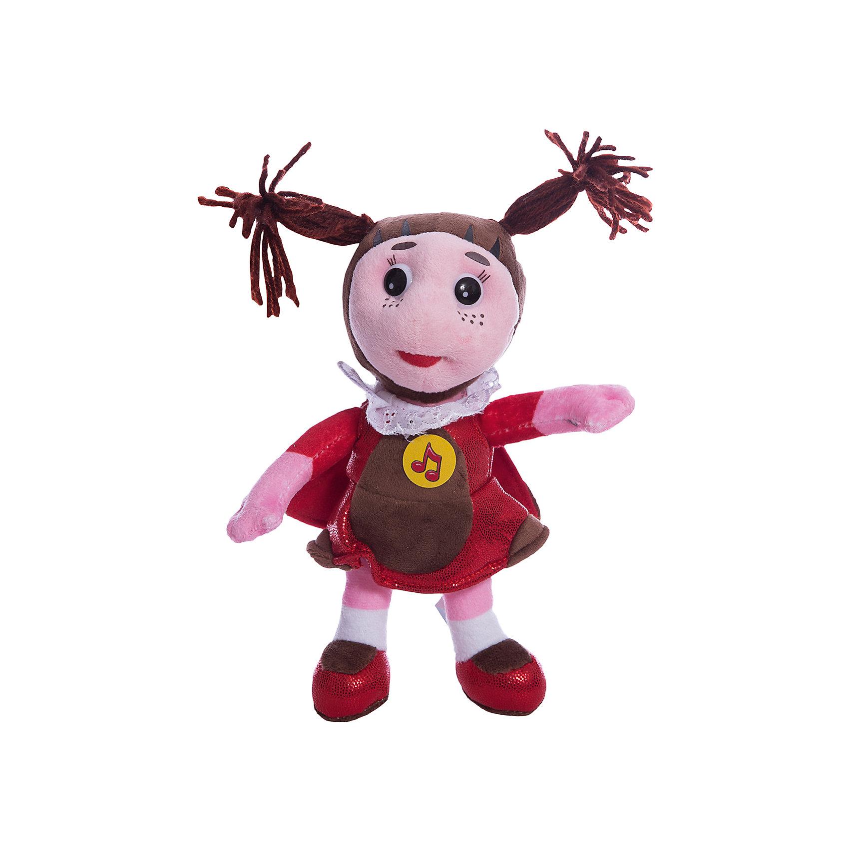 Мягкая игрушка Мила, 21см, со звуком, Лунтик и его друзья, МУЛЬТИ-ПУЛЬТИЛюбимые герои<br>Мягкая игрушка Мила, 21см, со звуком, Лунтик и его друзья, Мульти-Пульти.<br><br>Характеристика:<br><br>• Материал: текстиль, плюш, пластик.    <br>• Высота игрушки: 21 см.<br>• Звуковые эффекты. <br>• Мягкая, приятная на ощупь.<br><br>Дети обожают мягкие игрушки, ведь с ними так приятно играть днем и уютно и спокойно засыпать ночью! Очаровательная Мила, героиня мультсериала Лунтик и его друзья, непременно понравится ребятам и развлечет их фразами из мультфильма. Озорные глаза, курносый носик и две задорные косички никого не оставят равнодушными. Игрушка очень мягкая и приятная на ощупь, изготовлена из высококачественных экологичных материалов.<br><br>Мягкую игрушку Мила, 21см, со звуком, Лунтик и его друзья, Мульти-Пульти, можно купить в нашем интернет-магазине.<br><br>Ширина мм: 60<br>Глубина мм: 120<br>Высота мм: 240<br>Вес г: 120<br>Возраст от месяцев: 12<br>Возраст до месяцев: 9<br>Пол: Унисекс<br>Возраст: Детский<br>SKU: 4950446