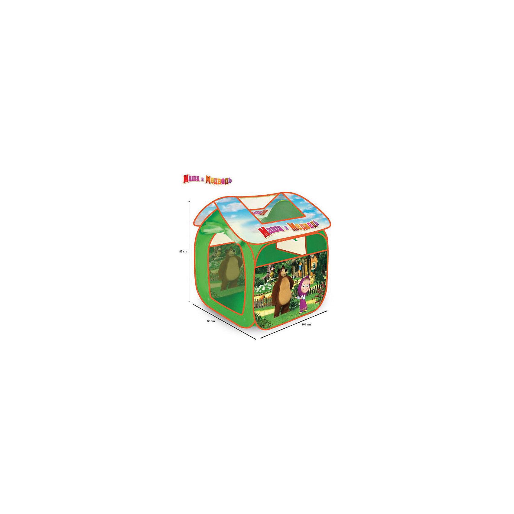 Игровая палатка , Маша и медведь, Играем вместеИгровые центры<br><br><br>Ширина мм: 800<br>Глубина мм: 830<br>Высота мм: 1050<br>Вес г: 750<br>Возраст от месяцев: 12<br>Возраст до месяцев: 5<br>Пол: Унисекс<br>Возраст: Детский<br>SKU: 4950455