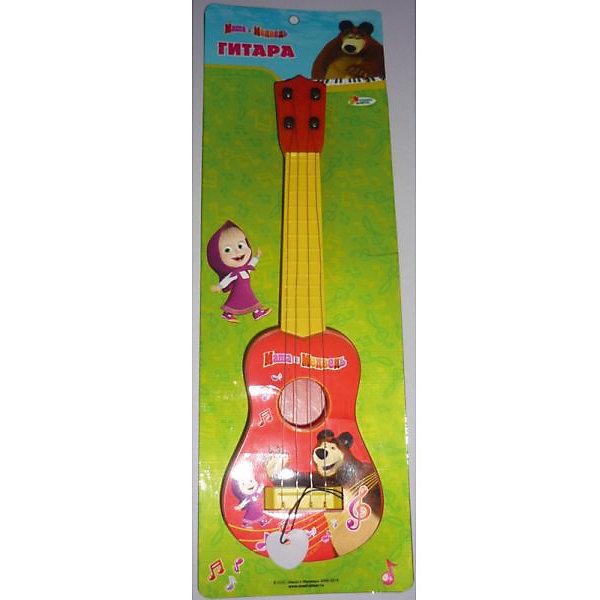 Гитара, с медиатором, Маша и медведь, Играем вместеГитары<br>Гитара, с медиатором, Маша и медведь, Играем вместе<br><br>Характеристики:<br><br>• 4 металлических струны<br>• пластиковый медиатор с веревочкой<br>• материал: пластик<br>• размер упаковки: 42х14х4 см<br>• размер: 31,5х9х3,5 см<br>• вес: 150 грамм<br><br>Гитара Маша и Медведь изготовлена из прочного пластика и имеет 4 металлические струны. В комплект входит медиатор с удобной веревочкой. Ребенок сможет придумать свои первые музыкальные композиции, а игра поможет развить музыкальный вкус, мелкую моторику и координацию движений.<br><br>Гитару, с медиатором, Маша и медведь, Играем вместе вы можете купить в нашем интернет-магазине.<br><br>Ширина мм: 40<br>Глубина мм: 140<br>Высота мм: 410<br>Вес г: 170<br>Возраст от месяцев: 36<br>Возраст до месяцев: 5<br>Пол: Унисекс<br>Возраст: Детский<br>SKU: 4950456