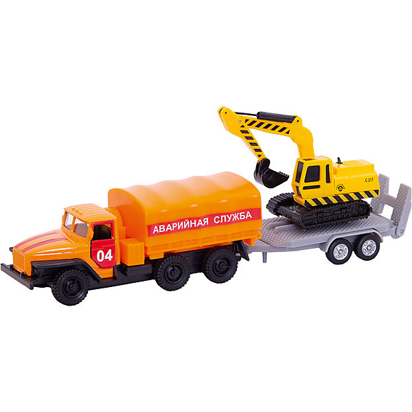 Машина Урал 12см с машинкой 7,5см на прицепе, ТЕХНОПАРКМашинки<br>Машина Урал 12см с машинкой 7,5см на прицепе, ТЕХНОПАРК<br><br>Характеристики:<br><br>• двери открываются и закрываются<br>• в комплекте: грузовик, прицеп с  машиной<br>• длина грузовика: 12 см<br>• длина прицепа: 7,5 см<br>• материал: пластик<br>• размер упаковки: 26х13х6 см<br><br>Машина от бренда ТЕХНОПАРК станет отличным помощником для веселой и интересной игры. Сильный грузовик отвозит прицеп с машинкой и снова забирает его. Также ваш ребенок сможет придумать множество увлекательных сюжетов с машинами. Дверцы машины открываются и перед ребенком будет расположен салон машины, который непременно порадует отличной детализацией. Этот набор отлично дополнит коллекцию автолюбителя!<br><br>Машину Урал 12см с машинкой 7,5см на прицепе, ТЕХНОПАРК вы можете купить в нашем интернет-магазине.<br><br>Ширина мм: 60<br>Глубина мм: 130<br>Высота мм: 260<br>Вес г: 200<br>Возраст от месяцев: 36<br>Возраст до месяцев: 9<br>Пол: Мужской<br>Возраст: Детский<br>SKU: 4950485
