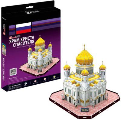 Пазл 3D Храм Христа Спасителя (Россия) , CubicFun
