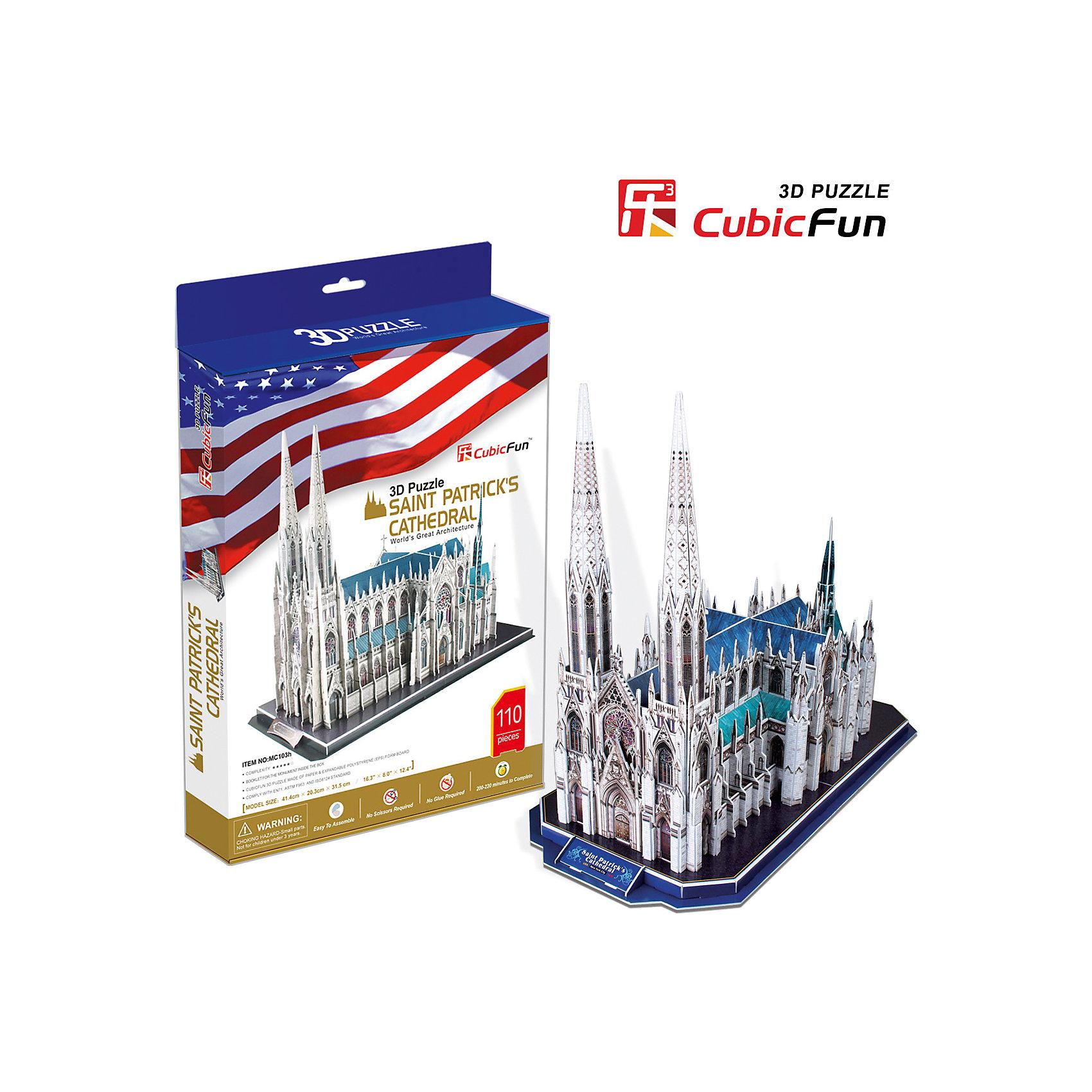 "CubicFun Пазл 3D ""Собор Святого Патрика (США)"", CubicFun"