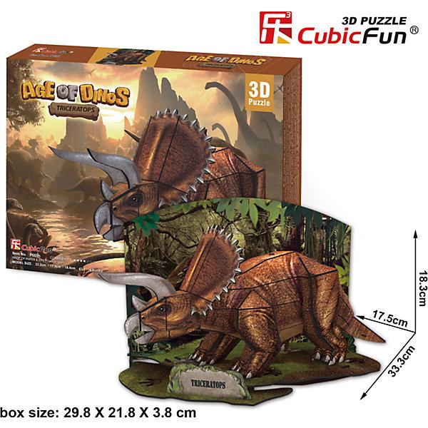 Пазл 3D Эра Динозавров Трицератопс, CubicFun3D пазлы<br>Набор P669h из новой серии 3D-паззлов «Эпоха динозавров» от компании CubicFun собирается из 41 детали без помощи клея и дополнительных инструментов. Набор относится к среднему уровню сложности (4 звезды из 7 возможных) и предназначен для детей в возрасте от 8 лет.<br><br>Ширина мм: 300<br>Глубина мм: 220<br>Высота мм: 40<br>Вес г: 392<br>Возраст от месяцев: 96<br>Возраст до месяцев: 192<br>Пол: Унисекс<br>Возраст: Детский<br>SKU: 4951159
