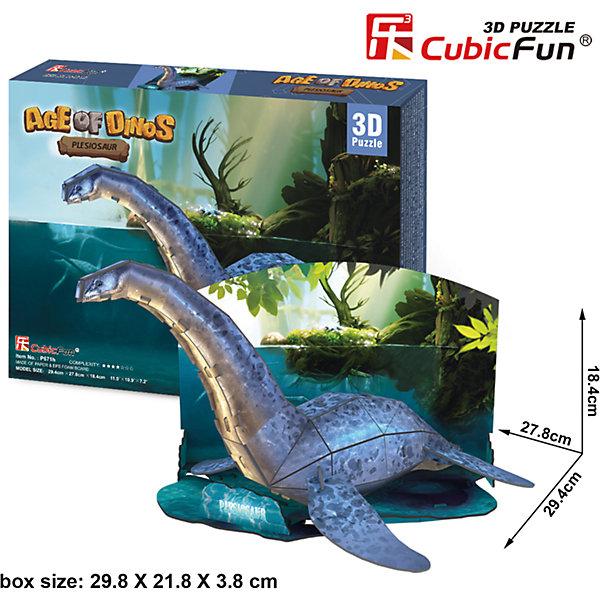 Пазл 3D Эра Динозавров Плезиозавр, CubicFun3D пазлы<br>Плезиозавр был хищным динозавром, хорошо приспособленным к жизни в водоемах. Появились они в морях с начала юры и существовали до конца мелового периода. Соединив 38 деталей из высококачественного ламинированного картона, вы получите фигуру плезиозавра, стоящего в небольшом водоеме, а вокруг доисторический лес.<br><br>Размеры набора в собранном виде достигают 29 сантиметров в длину и 18 в высоту. Для сборки не требуются инструменты и клей.<br><br>Ширина мм: 300<br>Глубина мм: 220<br>Высота мм: 40<br>Вес г: 392<br>Возраст от месяцев: 96<br>Возраст до месяцев: 192<br>Пол: Унисекс<br>Возраст: Детский<br>SKU: 4951161