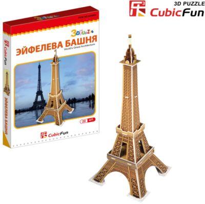 Пазл 3D Эйфелева башня (Франция) (мини серия) , CubicFun