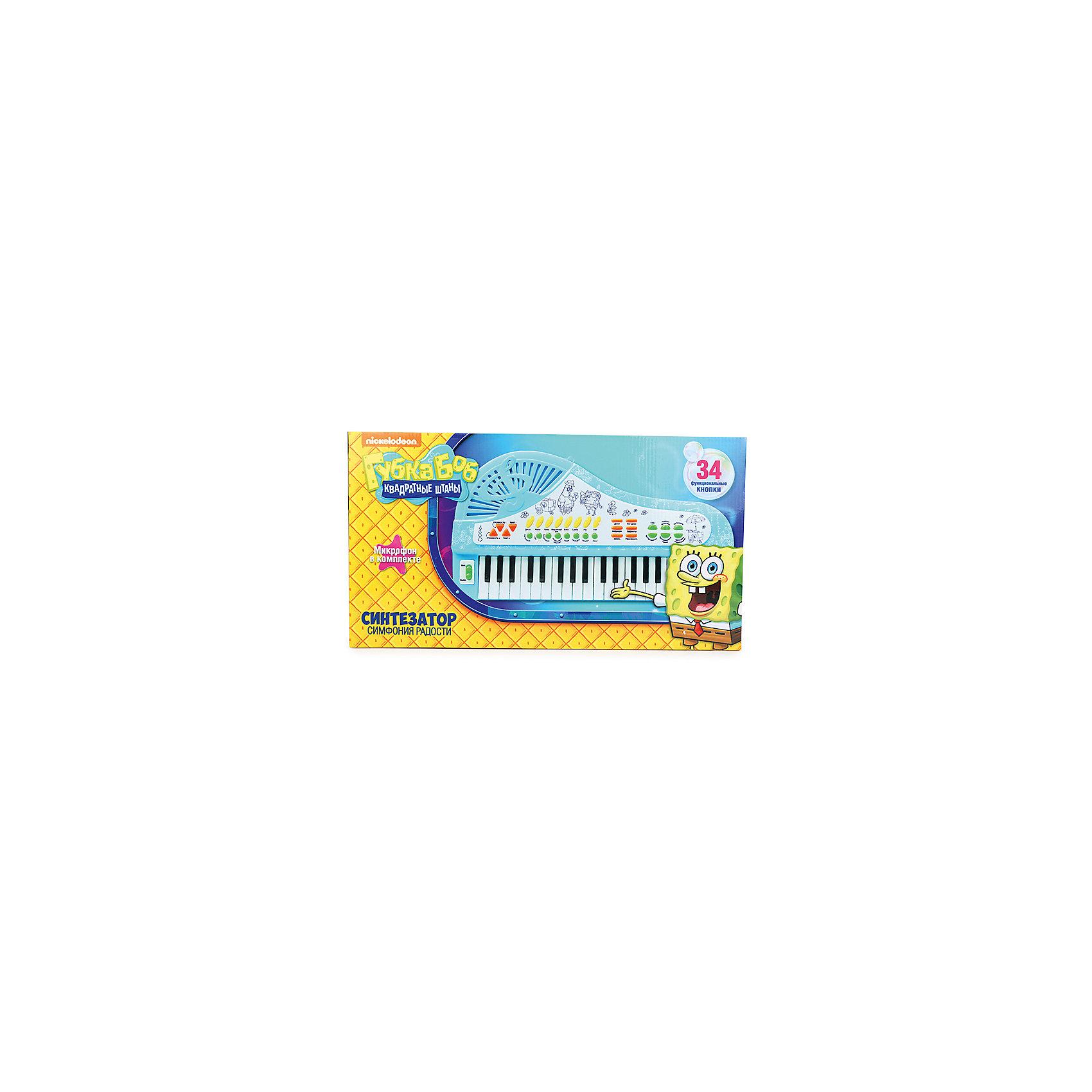 """Cинтезатор-рояль """"Симфония радости"""", с микрофоном, Губка Боб от myToys"""