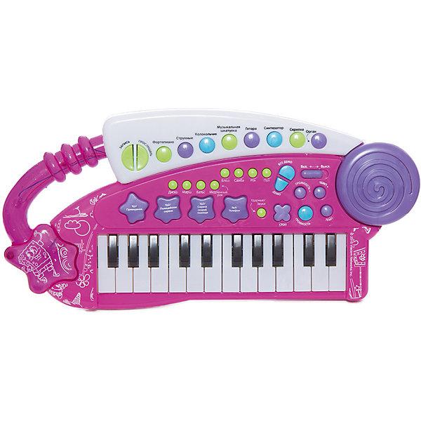 Игрушка-синтезатор Фейерверк звуков, Губка БобСинтезаторы<br>Многофункциональный синтезатор Губка Боб познакомит ребёнка с увлекательным миром музыки. С этим музыкальным инструментом не придётся скучать: записывайте и прослушивайте звук, воспроизводите уже готовые мелодии или создавайте свои!  В процессе игры развивается звуковое восприятие и творческое мышление. <br><br>Преимущества:<br>24 электронные клавиши <br>31 функциональная кнопка<br>8 музыкальных инструментов<br>8 ритмов<br>4 ударных инструмента<br>4 дополнительных звука<br>Демонстрационные мелодии<br>Регулировка громкости и темпа<br>Функция Запись\Воспроизведение<br>Световые эффекты<br>Ширина мм: 375; Глубина мм: 210; Высота мм: 50; Вес г: 560; Возраст от месяцев: 36; Возраст до месяцев: 72; Пол: Унисекс; Возраст: Детский; SKU: 4951867;