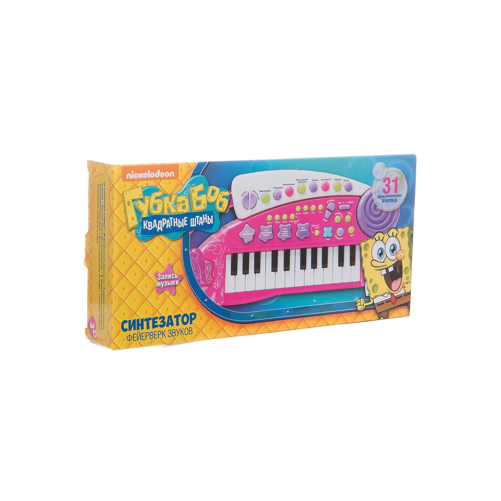 """Игрушка-синтезатор """"Фейерверк звуков"""", Губка Боб от myToys"""