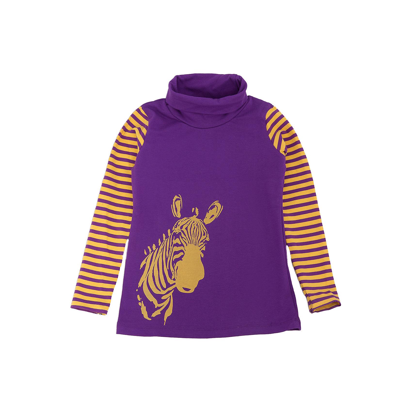 Джемпер для девочки DAUBERДжемпер для девочки DAUBER<br><br>Характеристики:<br><br>• Состав: 95%хлопок, 5% лайкра.<br>• Цвет: фиолетовый.<br>• Материал: трикотаж.<br><br>Джемпер для девочки от российского бренда DAUBER.<br>Модный трикотажный джемпер фиолетового цвета выполнен из хлопкового трикотажа. Джемпер украшен оригинальным желтым принтом в виде головы зебры и полосками на рукавах. Данная модель имеет высокую горловину. В таком джемпере ваша девочка будет чувствовать себя комфортно и уютно как дома, так и на улице.<br><br>Джемпер для девочки DAUBER, можно купить в нашем интернет - магазине.<br><br>Ширина мм: 190<br>Глубина мм: 74<br>Высота мм: 229<br>Вес г: 236<br>Цвет: фиолетовый<br>Возраст от месяцев: 60<br>Возраст до месяцев: 72<br>Пол: Женский<br>Возраст: Детский<br>Размер: 116,98,104,110<br>SKU: 4953321