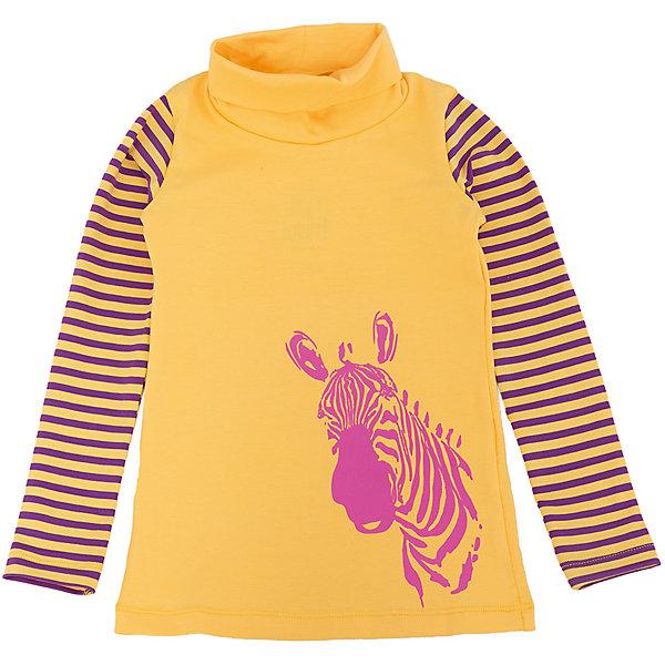 Водолазка для девочки DAUBERВодолазки<br>Характеристики:<br><br>• Состав: 95%хлопок, 5% лайкра.<br>• Цвет: желтый.<br>• Материал: трикотаж.<br><br>Водолазка для девочки от российского бренда DAUBER.<br>Модный трикотажный джемпер желтого цвета выполнен из хлопкового трикотажа. Джемпер украшен оригинальным фиолетовым принтом в виде головы зебры и полосками на рукавах. Данная модель имеет высокую горловину. В таком джемпере ваша девочка будет чувствовать себя комфортно и уютно как дома, так и на улице.<br><br>Джемпер для девочки DAUBER, можно купить в нашем интернет - магазине.<br><br>Ширина мм: 190<br>Глубина мм: 74<br>Высота мм: 229<br>Вес г: 236<br>Цвет: желтый<br>Возраст от месяцев: 36<br>Возраст до месяцев: 48<br>Пол: Женский<br>Возраст: Детский<br>Размер: 104,98,116,110<br>SKU: 4953326