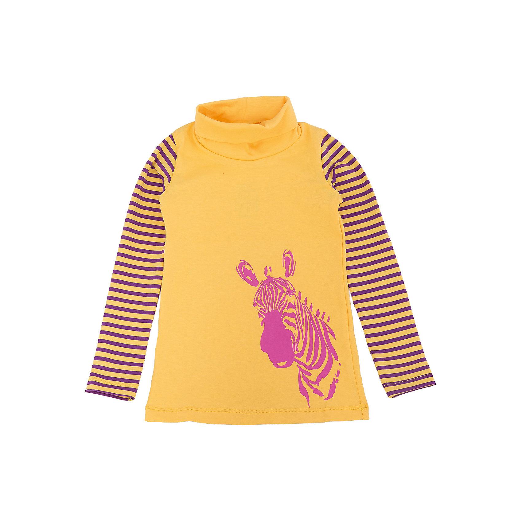 Джемпер для девочки DAUBERДжемпер для девочки DAUBER<br><br>Характеристики:<br><br>• Состав: 95%хлопок, 5% лайкра.<br>• Цвет: желтый.<br>• Материал: трикотаж.<br><br>Джемпер для девочки от российского бренда DAUBER.<br>Модный трикотажный джемпер желтого цвета выполнен из хлопкового трикотажа. Джемпер украшен оригинальным фиолетовым принтом в виде головы зебры и полосками на рукавах. Данная модель имеет высокую горловину. В таком джемпере ваша девочка будет чувствовать себя комфортно и уютно как дома, так и на улице.<br><br>Джемпер для девочки DAUBER, можно купить в нашем интернет - магазине.<br><br>Ширина мм: 190<br>Глубина мм: 74<br>Высота мм: 229<br>Вес г: 236<br>Цвет: желтый<br>Возраст от месяцев: 48<br>Возраст до месяцев: 60<br>Пол: Женский<br>Возраст: Детский<br>Размер: 110,104,98,116<br>SKU: 4953326