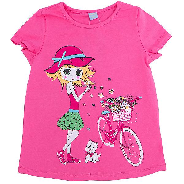 Футболка для девочки DAUBERФутболки, поло и топы<br>Футболка для девочки DAUBER<br><br>Характеристики:<br><br>• Состав: 95%хлопок, 5% лайкра.<br>• Цвет: розовый.<br>• Материал: трикотаж.<br><br>Футболка для девочки от российского бренда DAUBER.<br>Модная футболка ярко- розового цвета выполнена из хлопкового трикотажа. Оригинальный принт в виде забавной девочки не оставит равнодушной вашу малышку. Натуральный хлопок в составе изделия делает его дышащим, приятным на ощупь и гипоаллергенным. Мягкая обтачка на горловине не вызовет трудностей при надевании. В такой футболке ваша девочка будет чувствовать себя комфортно и уютно.<br><br>Футболку для девочки DAUBER, можно купить в нашем интернет - магазине<br><br>Ширина мм: 199<br>Глубина мм: 10<br>Высота мм: 161<br>Вес г: 151<br>Цвет: розовый<br>Возраст от месяцев: 132<br>Возраст до месяцев: 144<br>Пол: Женский<br>Возраст: Детский<br>Размер: 152,128,134,140,146<br>SKU: 4953422