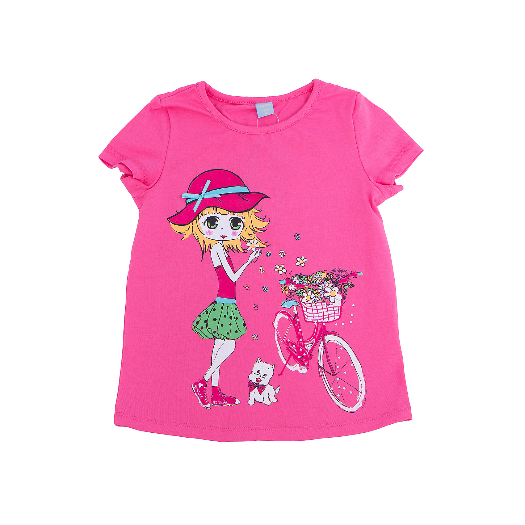 Футболка для девочки DAUBERФутболка для девочки DAUBER<br><br>Характеристики:<br><br>• Состав: 95%хлопок, 5% лайкра.<br>• Цвет: розовый.<br>• Материал: трикотаж.<br><br>Футболка для девочки от российского бренда DAUBER.<br>Модная футболка ярко- розового цвета выполнена из хлопкового трикотажа. Оригинальный принт в виде забавной девочки не оставит равнодушной вашу малышку. Натуральный хлопок в составе изделия делает его дышащим, приятным на ощупь и гипоаллергенным. Мягкая обтачка на горловине не вызовет трудностей при надевании. В такой футболке ваша девочка будет чувствовать себя комфортно и уютно.<br><br>Футболку для девочки DAUBER, можно купить в нашем интернет - магазине<br><br>Ширина мм: 199<br>Глубина мм: 10<br>Высота мм: 161<br>Вес г: 151<br>Цвет: розовый<br>Возраст от месяцев: 132<br>Возраст до месяцев: 144<br>Пол: Женский<br>Возраст: Детский<br>Размер: 152,128,134,140,146<br>SKU: 4953422