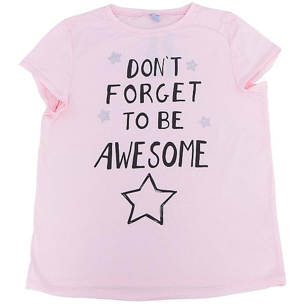 Футболка для девочки DAUBERФутболки, поло и топы<br>Футболка для девочки DAUBER<br><br>Характеристики:<br><br>• Состав: 100%хлопок.<br>• Цвет: розовый.<br>• Материал: трикотаж.<br><br>Футболка для девочки от российского бренда DAUBER.<br>Модная футболка розового цвета выполнена из хлопкового трикотажа. Оригинальный контрастный черный принт не оставит равнодушной вашу малышку. Натуральный хлопок в составе изделия делает его дышащим, приятным на ощупь и гипоаллергенным. Мягкая обтачка на горловине не вызовет трудностей при надевании. В такой футболке ваша девочка будет чувствовать себя комфортно и уютно.<br><br>Футболка для девочки DAUBER, можно купить в нашем интернет - магазине.<br><br>Ширина мм: 199<br>Глубина мм: 10<br>Высота мм: 161<br>Вес г: 151<br>Цвет: розовый<br>Возраст от месяцев: 120<br>Возраст до месяцев: 132<br>Пол: Женский<br>Возраст: Детский<br>Размер: 146,128,152,140,134<br>SKU: 4953434