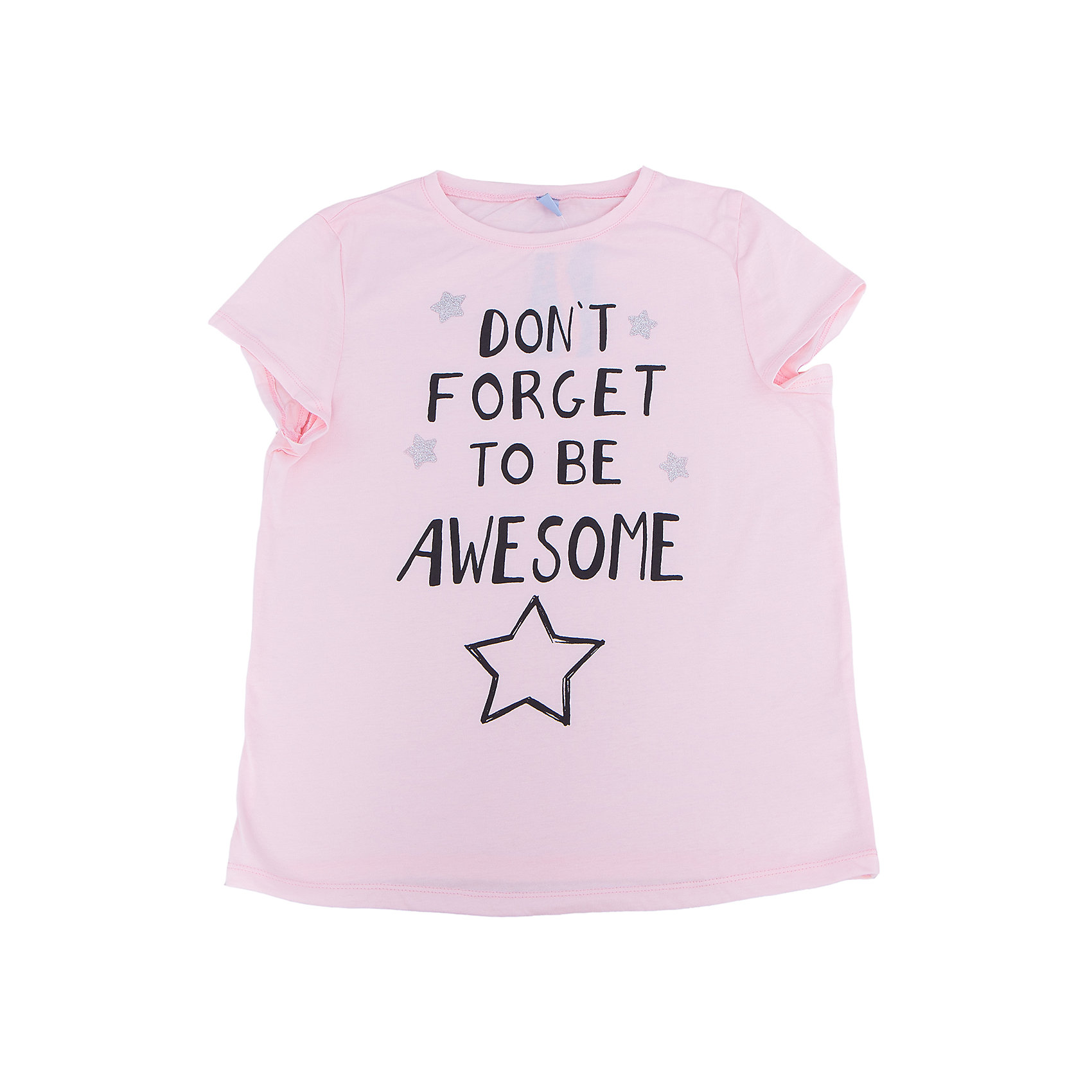 Футболка для девочки DAUBERФутболки, поло и топы<br>Футболка для девочки DAUBER<br><br>Характеристики:<br><br>• Состав: 100%хлопок.<br>• Цвет: розовый.<br>• Материал: трикотаж.<br><br>Футболка для девочки от российского бренда DAUBER.<br>Модная футболка розового цвета выполнена из хлопкового трикотажа. Оригинальный контрастный черный принт не оставит равнодушной вашу малышку. Натуральный хлопок в составе изделия делает его дышащим, приятным на ощупь и гипоаллергенным. Мягкая обтачка на горловине не вызовет трудностей при надевании. В такой футболке ваша девочка будет чувствовать себя комфортно и уютно.<br><br>Футболка для девочки DAUBER, можно купить в нашем интернет - магазине.<br><br>Ширина мм: 199<br>Глубина мм: 10<br>Высота мм: 161<br>Вес г: 151<br>Цвет: розовый<br>Возраст от месяцев: 132<br>Возраст до месяцев: 144<br>Пол: Женский<br>Возраст: Детский<br>Размер: 152,128,134,140,146<br>SKU: 4953434