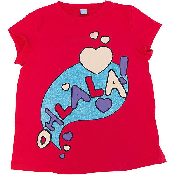 Футболка для девочки DAUBERФутболки, поло и топы<br>Футболка для девочки DAUBER<br><br>Характеристики:<br><br>• Состав: 100%хлопок.<br>• Цвет: красный.<br>• Материал: трикотаж.<br><br>Футболка для девочки от российского бренда DAUBER.<br>Модная футболка красного цвета выполнена из хлопкового трикотажа. Оригинальный забавный принт не оставит равнодушной вашу малышку. Натуральный хлопок в составе изделия делает его дышащим, приятным на ощупь и гипоаллергенным. Мягкая обтачка на горловине не вызовет трудностей при надевании. В такой футболке ваша девочка будет чувствовать себя комфортно и уютно.<br><br>Футболка для девочки DAUBER, можно купить в нашем интернет - магазине.<br><br>Ширина мм: 199<br>Глубина мм: 10<br>Высота мм: 161<br>Вес г: 151<br>Цвет: красный<br>Возраст от месяцев: 132<br>Возраст до месяцев: 144<br>Пол: Женский<br>Возраст: Детский<br>Размер: 152,128,146,140,134<br>SKU: 4953440