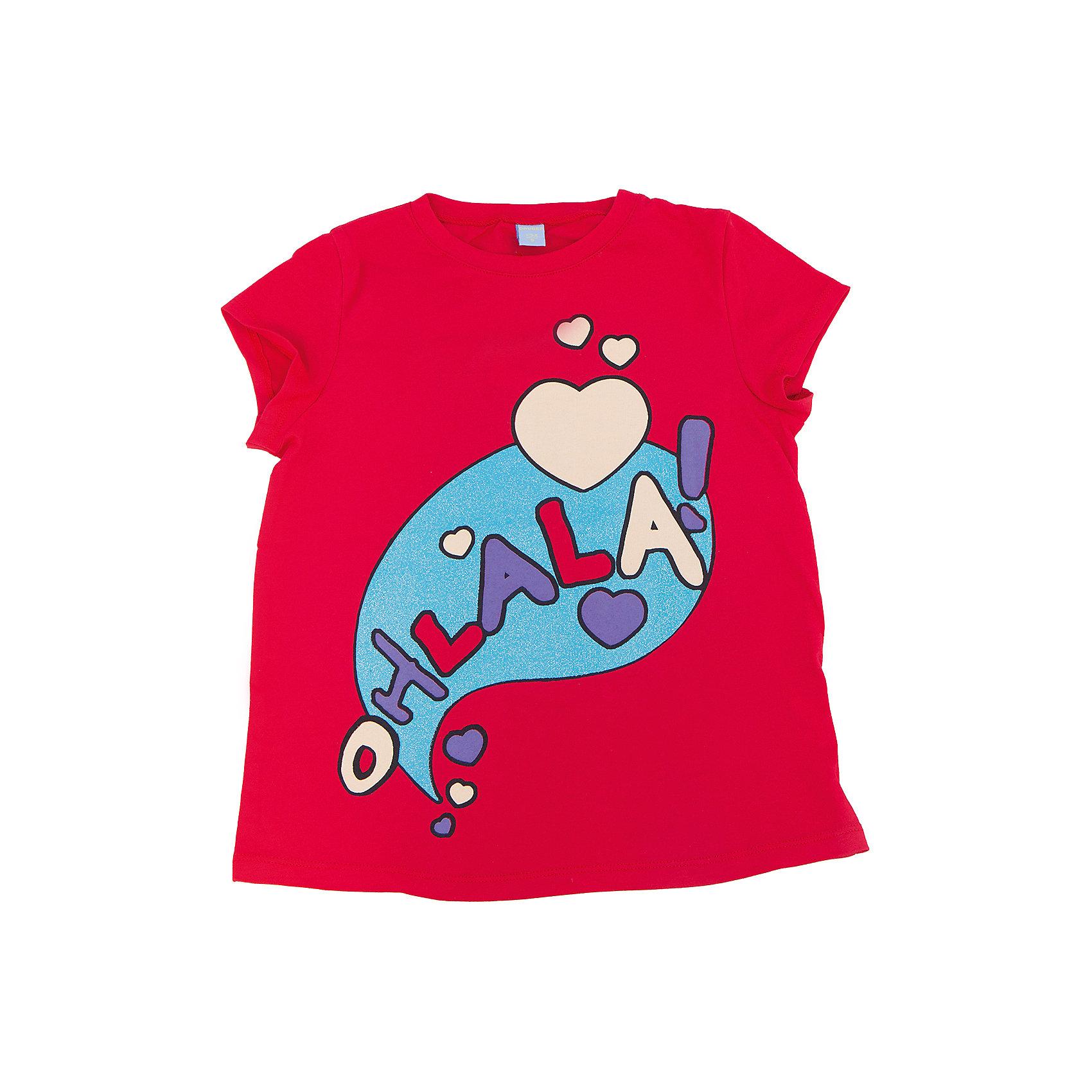 Футболка для девочки DAUBERФутболки, поло и топы<br>Футболка для девочки DAUBER<br><br>Характеристики:<br><br>• Состав: 100%хлопок.<br>• Цвет: красный.<br>• Материал: трикотаж.<br><br>Футболка для девочки от российского бренда DAUBER.<br>Модная футболка красного цвета выполнена из хлопкового трикотажа. Оригинальный забавный принт не оставит равнодушной вашу малышку. Натуральный хлопок в составе изделия делает его дышащим, приятным на ощупь и гипоаллергенным. Мягкая обтачка на горловине не вызовет трудностей при надевании. В такой футболке ваша девочка будет чувствовать себя комфортно и уютно.<br><br>Футболка для девочки DAUBER, можно купить в нашем интернет - магазине.<br><br>Ширина мм: 199<br>Глубина мм: 10<br>Высота мм: 161<br>Вес г: 151<br>Цвет: красный<br>Возраст от месяцев: 132<br>Возраст до месяцев: 144<br>Пол: Женский<br>Возраст: Детский<br>Размер: 152,134,140,146,128<br>SKU: 4953440