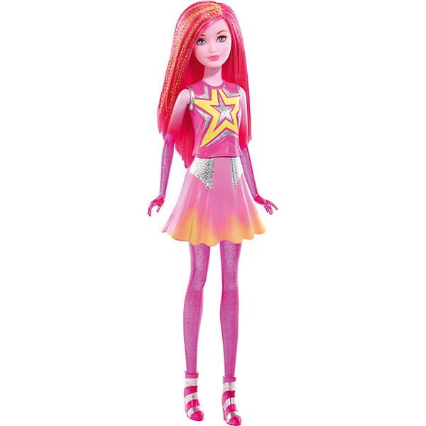 Кукла-сестра из серии Barbie и космическое приключениеКуклы<br>Кукла-сестра из серии Barbie и космическое приключение- замечательная игрушка, созданная по мотивам одноименного мультфильма. Яркие и необычные героини новой серии - сестры-близнецы Карина и Шина, обладающие особенной властью над стихиями и имеющие телепатическую связь друг с другом. Эту  куклу зовут Шина. Она  выглядит очень необычно. Руки и ноги выполнены из прозрачного розового материала с включением глиттеров, придающих таинственное мерцание , розовые волосы, украшенные блестящими золотыми прядями, и огромные фиалковые глаза. У Шины спокойный естественный макияж, левую щеку украшает родинка в форме звезды. Одета кукла в пластиковый формованный лиф розового цвета с символическим изображением звезды на груди, а также пластиковую розовую с желтым отливом юбку с серебристыми вставками. Обувь литая, из прозрачного материала розового цвета с блестками и украшена серебристыми полосами.<br>Дополнительная информация:<br>? Материал: пластик.<br>? Вес: 0,7 кг.<br>? Размер упаковки: 32 x12,5x6 см.<br>Куклу-сестру из серии Barbie и космическое приключение можно купить в нашем интернет- магазине.<br><br>Ширина мм: 60<br>Глубина мм: 125<br>Высота мм: 325<br>Вес г: 279<br>Возраст от месяцев: 36<br>Возраст до месяцев: 120<br>Пол: Женский<br>Возраст: Детский<br>SKU: 4953517