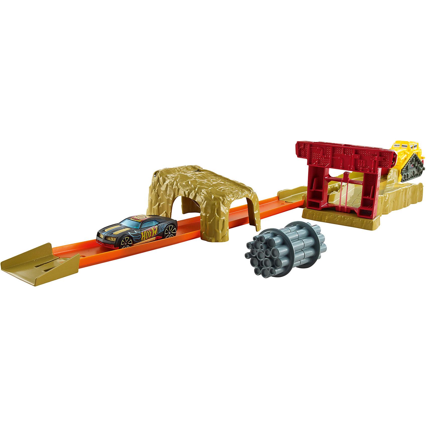 Hot Wheels Игрушечный трек БульдозерИгровые наборы<br>Характеристики товара:<br><br>• материал: ПВХ, пластик<br>• возраст: 4+<br>• комплектация: горка, гоночная машина, бульдозер и аксессуары<br>• страна производства: Китай<br><br>Всем известно, что любимые игрушки мальчиков – машинки. Современный выбор игрушек дает возможность почувствовать себя организатором гоночных соревнований. Так, игрушечный трек с бульдозером, несомненно, внесет разнообразие в игровой процесс ребенка. Качественная игрушка прослужит далеко не один год, не теряя при этом первоначального вида! Материалы, использованные при изготовлении товара, сертифицированы и отвечают всем международным требованиям по качеству. <br><br>Набор «Hot Wheels Игрушечный трек Бульдозер» можно приобрести в нашем интернет-магазине.<br><br>Ширина мм: 55<br>Глубина мм: 405<br>Высота мм: 190<br>Вес г: 639<br>Возраст от месяцев: 48<br>Возраст до месяцев: 120<br>Пол: Мужской<br>Возраст: Детский<br>SKU: 4953524