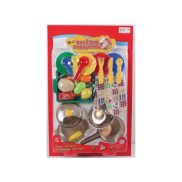 Игровой набор Веселый поваренок, PlaySmartДетский супермаркет<br>Веселый поваренок - набор для детских игр.  С этим набором девочка сможет почувствовать себя настоящей хозяйкой, готовящей различные блюда.  В наборе есть все, что пригодится маминой помощнице: пластиковые продукты, сковорода, кухонные принадлежности и столовые приборы. Все игрушки изготовлены из качественных материалов, безопасных для ребенка. Игра хорошо развивает воображение и мелкую моторику. Прекрасно подойдет для сюжетно-ролевых игр с подружками.<br><br>Дополнительная информация:<br>Материал: пластик<br>Размер: 30х7х47 см<br>Вес: 473 грамм<br>Вы можете приобрести набор Веселый поваренок в нашем интернет-магазине.<br><br>Ширина мм: 470<br>Глубина мм: 70<br>Высота мм: 300<br>Вес г: 473<br>Возраст от месяцев: 36<br>Возраст до месяцев: 120<br>Пол: Женский<br>Возраст: Детский<br>SKU: 4953617
