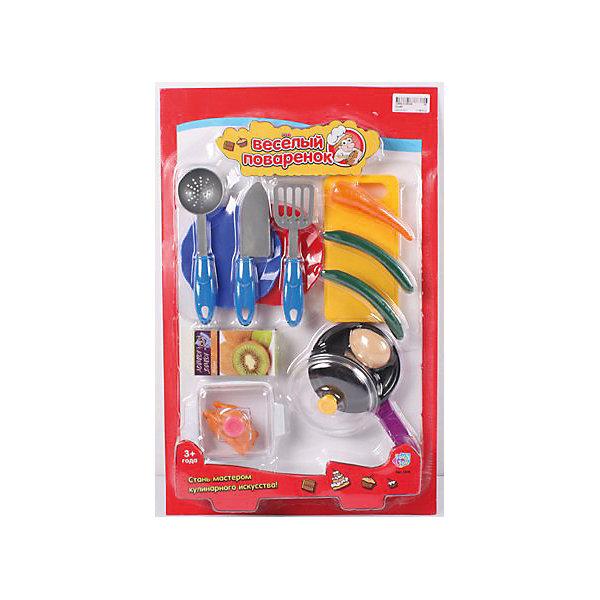 Игровой набор Веселый поваренок, PlaySmartДетский супермаркет<br>Веселый поваренок - набор для детских игр.  С этим набором девочка сможет почувствовать себя настоящей хозяйкой, готовящей различные блюда.  В наборе есть все, что пригодится маминой помощнице: пластиковые продукты, разделочная доска, сковорода, кухонные принадлежности. Все игрушки изготовлены из качественных материалов, безопасных для ребенка. Игра хорошо развивает воображение и мелкую моторику. Прекрасно подойдет для сюжетно-ролевых игр с подружками.<br><br>Дополнительная информация:<br>Материал: пластик<br>Размер: 30х6х47 см<br>Вес: 447 грамм<br>Вы можете приобрести набор Веселый поваренок в нашем интернет-магазине.<br><br>Ширина мм: 300<br>Глубина мм: 470<br>Высота мм: 60<br>Вес г: 447<br>Возраст от месяцев: 36<br>Возраст до месяцев: 120<br>Пол: Женский<br>Возраст: Детский<br>SKU: 4953619