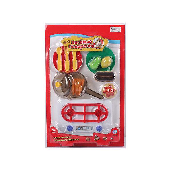Игровой набор Веселый поваренок, PlaySmartДетский супермаркет<br>Веселый поваренок - набор для детских игр.  С этим набором девочка сможет почувствовать себя настоящей хозяйкой, готовящей различные блюда.  В наборе есть все, что пригодится маминой помощнице: пластиковые продукты, сковорода, столовые приборы, тарелки, плита. Все игрушки изготовлены из качественных материалов, безопасных для ребенка. Игра хорошо развивает воображение и мелкую моторику. Прекрасно подойдет для сюжетно-ролевых игр с подружками.<br><br>Дополнительная информация:<br>Материал: пластик<br>Размер: 30х6х47 см<br>Вес: 519 грамм<br>Вы можете приобрести набор Веселый поваренок в нашем интернет-магазине.<br><br>Ширина мм: 470<br>Глубина мм: 60<br>Высота мм: 300<br>Вес г: 519<br>Возраст от месяцев: 36<br>Возраст до месяцев: 120<br>Пол: Женский<br>Возраст: Детский<br>SKU: 4953621