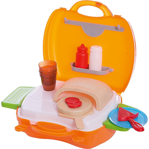 Набор в чемоданчике Мастер-Шеф Пицца, 22 предмета , 1toyИгрушечные продукты питания<br>С игровым набором Мастер Шеф. Пицца ребенок сможет создать самую вкусную пиццу для своих игрушек. В наборе есть все, что понадобится начинающему повару: печь, лопатка, противень, поднос, соусы и многое другое. С помощью наклеек ребенок сможет украсить мини-пекарню по своему вкусу. Кроме того, игра поможет развить мелкую моторику, фантазию и воображение.  Все предметы легко складываются в удобный чемоданчик, чтобы можно было играть с друзьями даже на улице. Отличный подарок для юного повара!<br><br>Дополнительная информация:<br>В наборе: печка, противень, лопатка, поднос, баночки для соусов, посуда, коробка для доставки пиццы, наклейки, 2 выдвижных столика<br>Материал: пластик<br>Размер: 20х10х24 см<br>Вес: 587 грамм<br>Вы можете приобрести набор Мастер Шеф. Пицца в нашем интернет-магазине.<br><br>Ширина мм: 240<br>Глубина мм: 100<br>Высота мм: 200<br>Вес г: 587<br>Возраст от месяцев: 24<br>Возраст до месяцев: 120<br>Пол: Унисекс<br>Возраст: Детский<br>SKU: 4953630