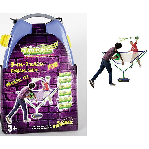 Набор для игры в бадминтон, MookieБадминтон и теннис<br>TailBall Backpack - замечательный набор для активных игр. В нем вы найдете ракетки и волан для бадминтона, необычный мяч-ракету, разборную сетку и рюкзак, который можно украсить красивыми наклейками, входящими в набор.<br><br>Дополнительная информация:<br>Материал: пластик<br>Размер: 27х12х42 см<br>Вес: 4800 грамм<br>Вы можете купить набор TailBall Backpack в нашем интернет-магазине.<br><br>Ширина мм: 420<br>Глубина мм: 120<br>Высота мм: 270<br>Вес г: 4800<br>Возраст от месяцев: 36<br>Возраст до месяцев: 120<br>Пол: Унисекс<br>Возраст: Детский<br>SKU: 4953635