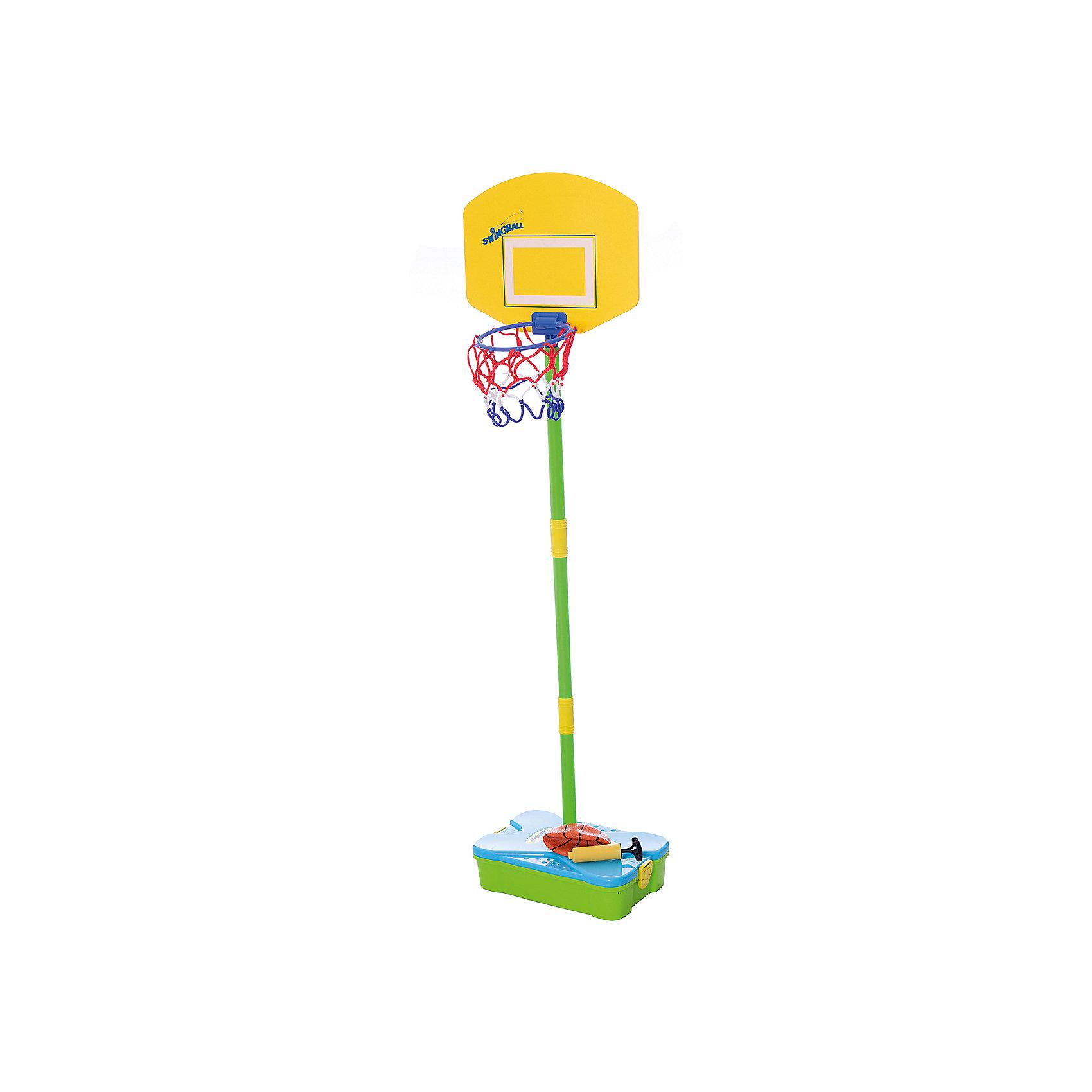 Баскетбольный набор (база, стойка, кольцо, сетка), MookieНабор First Basketball Set создан специально для любителей активных игр. Чтобы начать играть в баскетбол, достаточно собрать стойку и установить корзину и щит. Все элементы набора удобно складываются в чемоданчик, благодаря чему ребенок сможет играть и вне дома. Стойка регулируется по мере роста ребенка. Прекрасный вариант для активных мальчиков и девочек!<br><br>Дополнительная информация:<br>В наборе: основа, баскетбольный мяч, насос, корзина, сборная штанга<br>Материал: резина, пластик, текстиль<br>Размер: 33х12х42 см<br>Вес: 913 грамм<br>Набор First Basketball Set можно купить в нашем интернет-магазине.<br><br>Ширина мм: 420<br>Глубина мм: 120<br>Высота мм: 330<br>Вес г: 913<br>Возраст от месяцев: 60<br>Возраст до месяцев: 120<br>Пол: Унисекс<br>Возраст: Детский<br>SKU: 4953646
