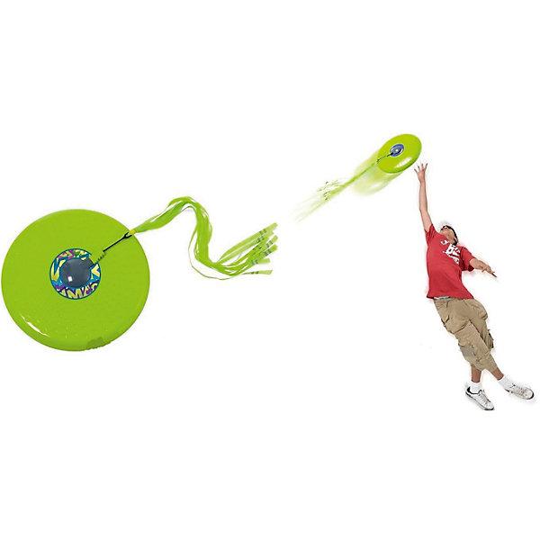Летающая тарелка с хвостом, 30 см, MookieЛетающие тарелки и бумеранги<br>Летающая тарелка с хвостом, 30 см, Mookie.<br><br>Характеристики:<br><br>• изготовлена из прочного пластика <br>• имеет хвост, позволяющий следить за траекторией полета<br>• повышенная устойчивость и аэродинамические свойства<br>• материал: пластик<br>• диаметр тарелки: 30 см<br>• цвет: салатовый<br>• размер: 30х4х34 см<br>• вес: 417 грамм<br><br>Летающая тарелка с хвостом, 30 см, Mookie подходит для любителей активного отдыха. Она представляет собой улучшенную версию классической летающей тарелки. Оснащена легким хвостом, который прикреплен к диску и позволяет отследить полет. Отлично подойдет для парной игры!<br><br>Летающую тарелку с хвостом, 30 см, Mookie вы можете купить в нашем интернет-магазине.<br>Ширина мм: 340; Глубина мм: 40; Высота мм: 300; Вес г: 417; Возраст от месяцев: 36; Возраст до месяцев: 120; Пол: Унисекс; Возраст: Детский; SKU: 4953650;