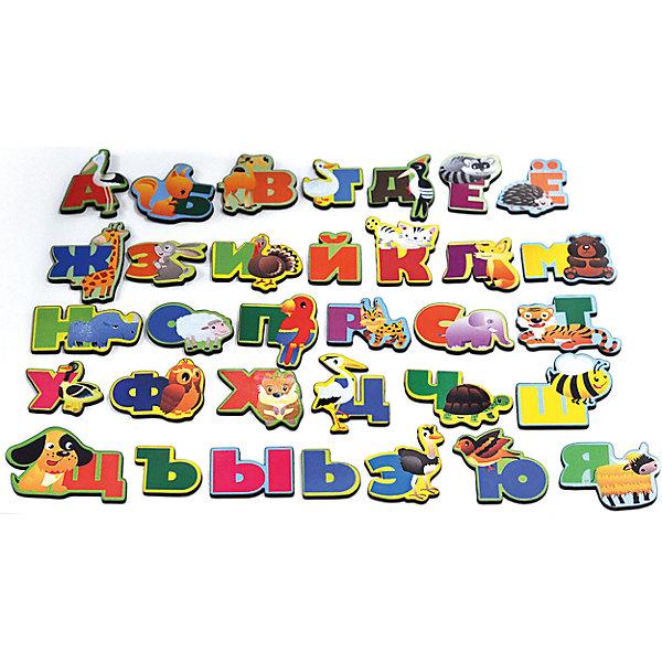 Развивающая игрушка: алфавит  русский «Животный мир», Мастер игрушекКасса букв<br>Животный мир - увлекательная игра с буквами на магнитах. С ее помощью ребенок сможет выучить алфавит и познакомится с животными, каждое из которых соответствует определенной букве. Картинки можно повесить на холодильник или магнитную доску. Игра отлично развивает память и внимание. С яркими картинками ребенок с удовольствием запомнит буквы!<br><br>Дополнительная информация:<br>Материал: магнит, дерево<br>Размер: 12х5х19 см<br>Вес: 170 грамм<br>Набор Животный мир можно приобрести в нашем интернет-магазине.<br>Ширина мм: 190; Глубина мм: 50; Высота мм: 120; Вес г: 170; Возраст от месяцев: 36; Возраст до месяцев: 120; Пол: Унисекс; Возраст: Детский; SKU: 4953660;