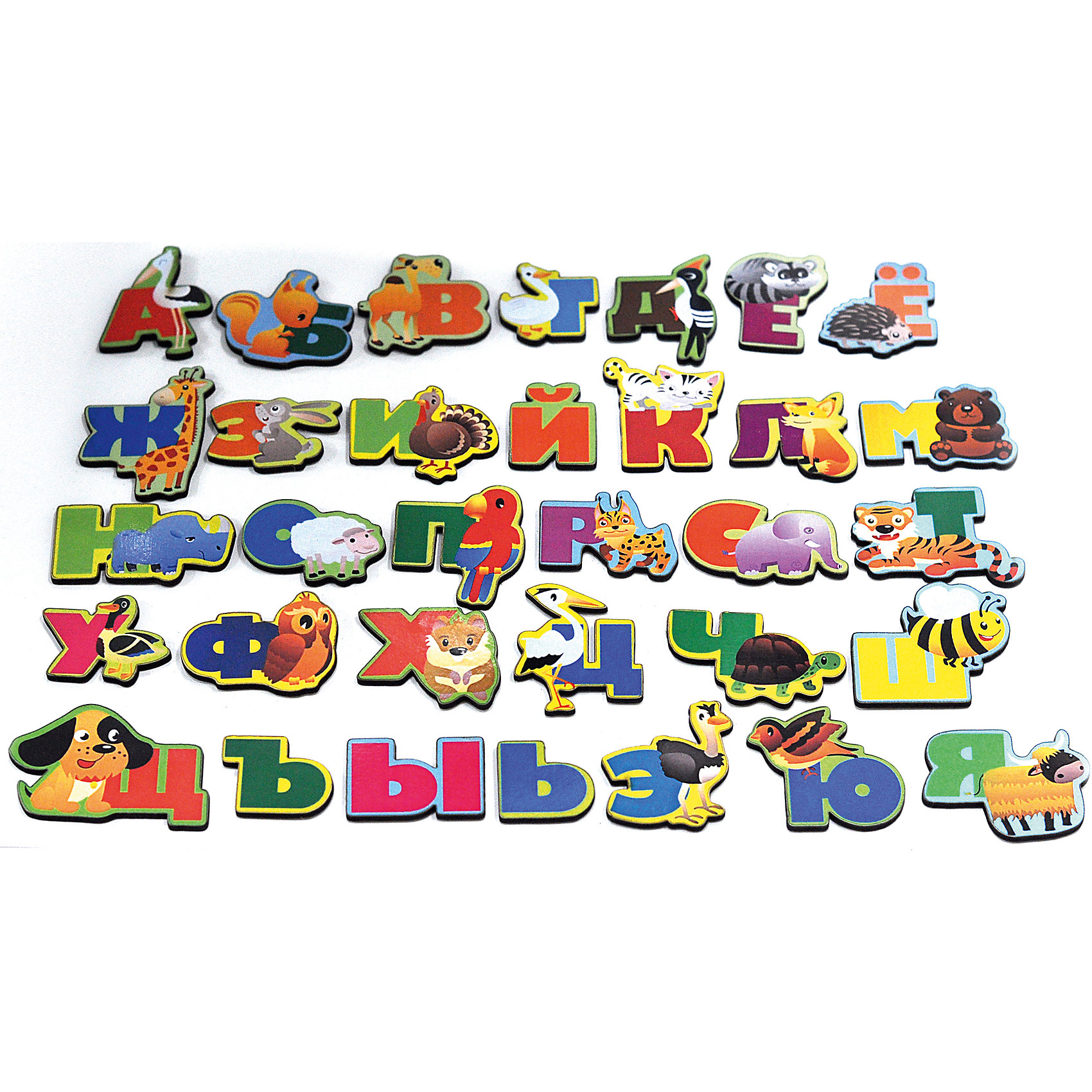 Развивающая игрушка: алфавит  русский «Животный мир», Мастер игрушекИгры для дошкольников<br>Животный мир - увлекательная игра с буквами на магнитах. С ее помощью ребенок сможет выучить алфавит и познакомится с животными, каждое из которых соответствует определенной букве. Картинки можно повесить на холодильник или магнитную доску. Игра отлично развивает память и внимание. С яркими картинками ребенок с удовольствием запомнит буквы!<br><br>Дополнительная информация:<br>Материал: магнит, дерево<br>Размер: 12х5х19 см<br>Вес: 170 грамм<br>Набор Животный мир можно приобрести в нашем интернет-магазине.<br><br>Ширина мм: 190<br>Глубина мм: 50<br>Высота мм: 120<br>Вес г: 170<br>Возраст от месяцев: 36<br>Возраст до месяцев: 120<br>Пол: Унисекс<br>Возраст: Детский<br>SKU: 4953660
