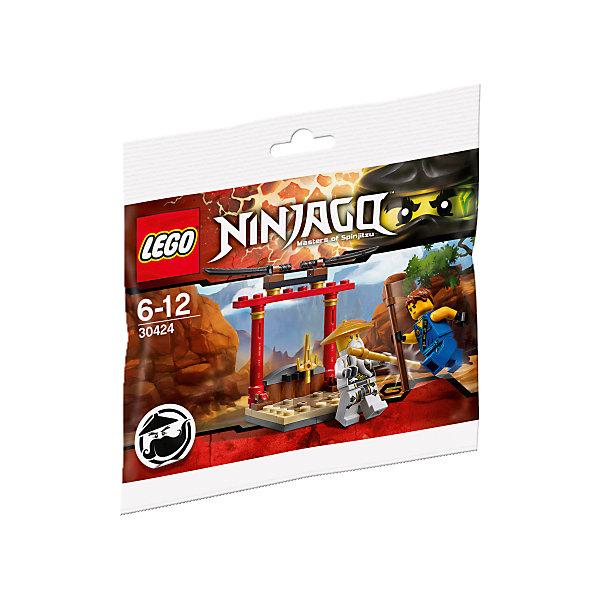 LEGO NINJAGO 30424: Тренировочное додзё Ву-КрюLEGO NINJAGO<br>Из деталей набора собирается додзё в восточном стиле с двумя чёрными катанами на вершине и кинжалом сай внизу посередине. Также в комплект входят минифигурки сэнсея Ву и Джея с оружием.<br><br>Ширина мм: 170<br>Глубина мм: 170<br>Высота мм: 8<br>Вес г: 100<br>Возраст от месяцев: 72<br>Возраст до месяцев: 144<br>Пол: Мужской<br>Возраст: Детский<br>SKU: 4954013