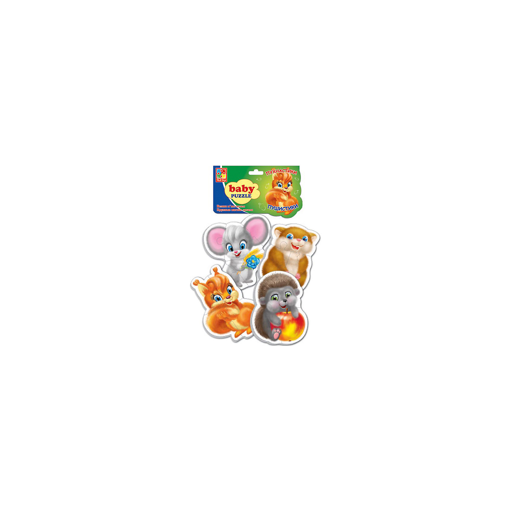 Vladi Toys Мягкие пазлы Пушистики, Vladi Toys пазлы vladi toys пазлы мягкие baby puzzle сказки репка