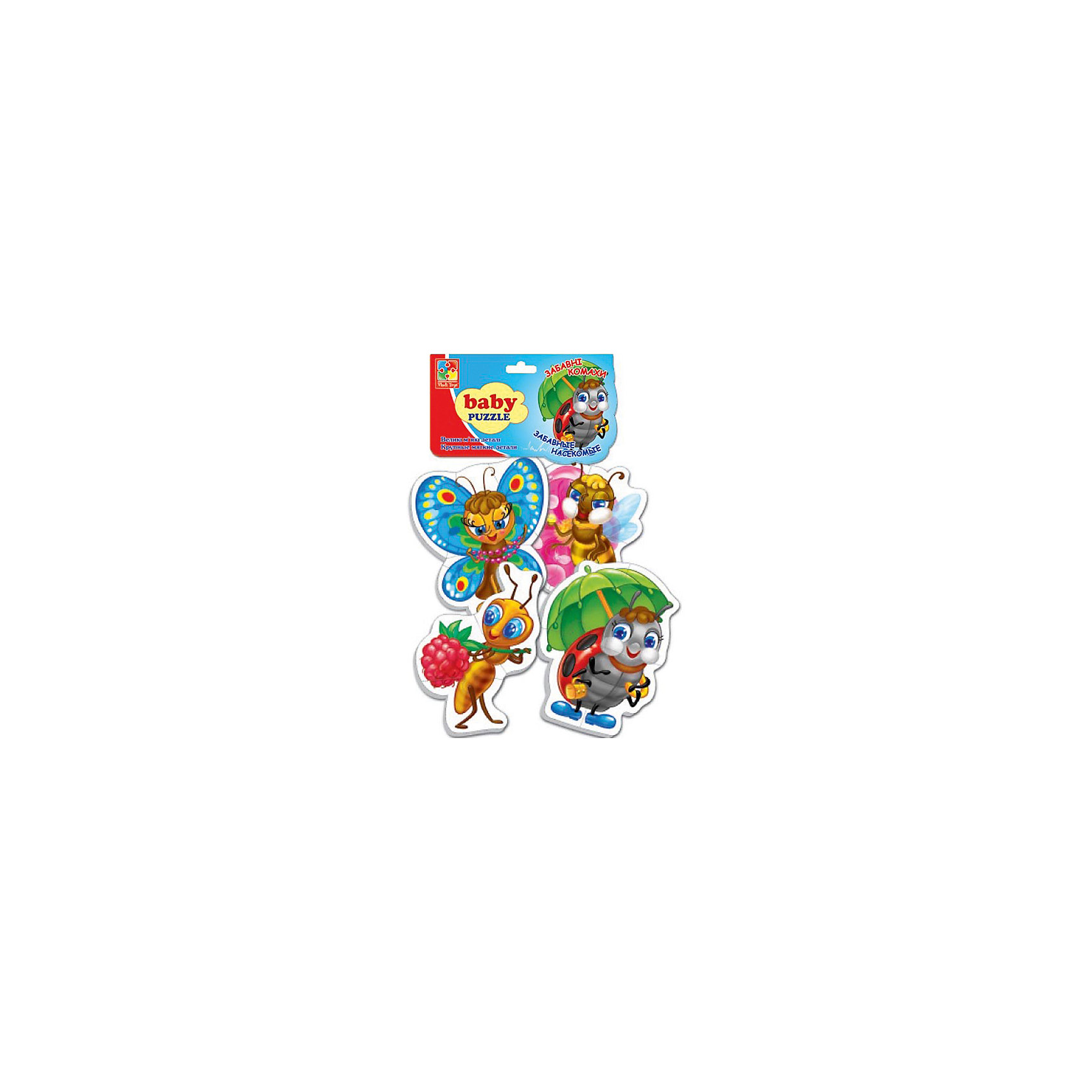 Vladi Toys Мягкие пазлы Насекомые, Vladi Toys пазлы vladi toys пазлы мягкие baby puzzle сказки репка