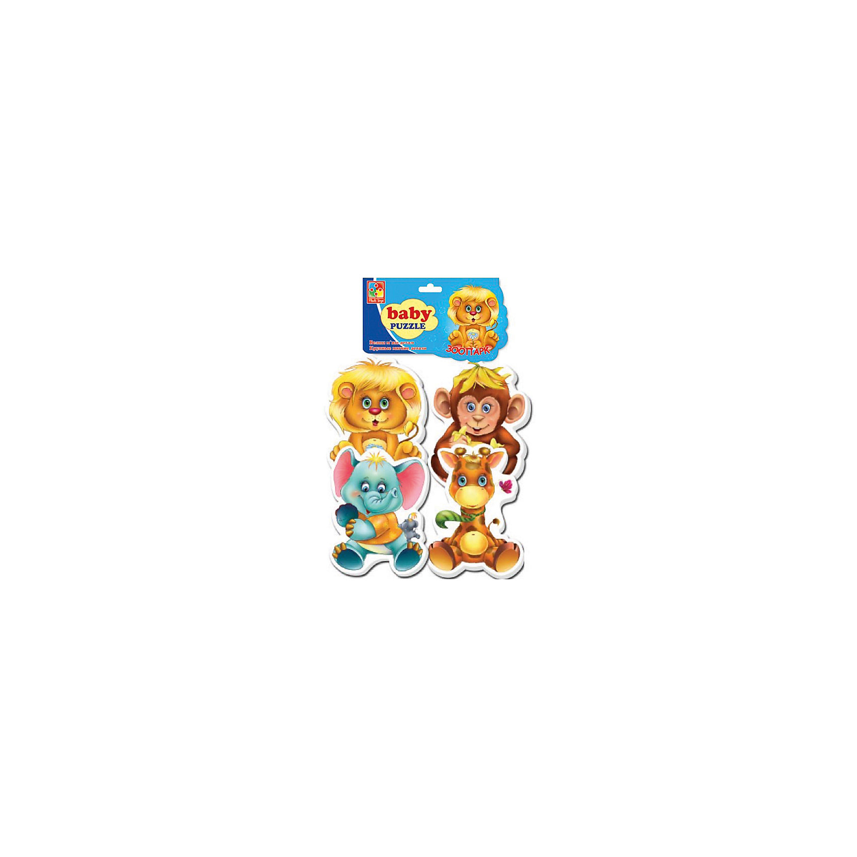Vladi Toys Мягкие пазлы Зоопарк, Vladi Toys пазлы vladi toys пазлы мягкие baby puzzle сказки репка