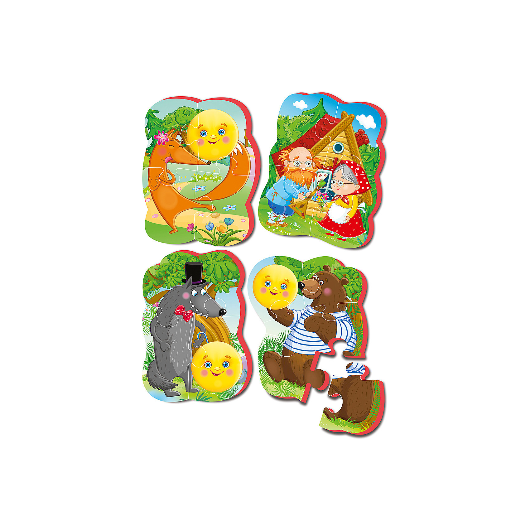 Vladi Toys Мягкие пазлы Колобок, Vladi Toys пазлы vladi toys пазлы мягкие baby puzzle сказки репка