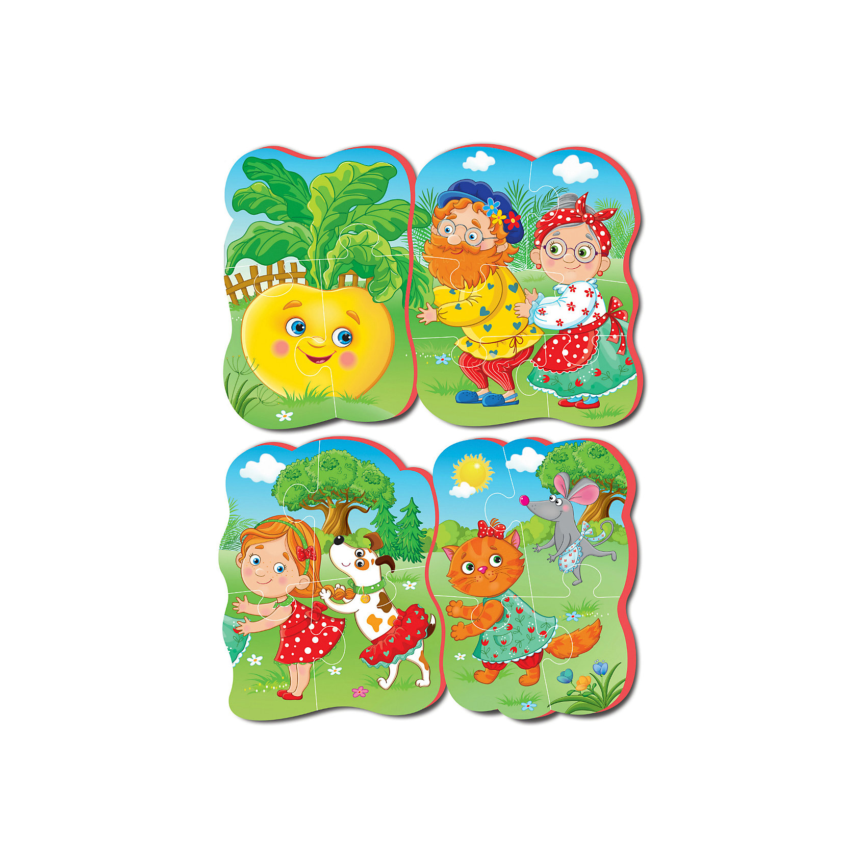 Vladi Toys Мягкие пазлы Репка, Vladi Toys пазлы vladi toys пазлы мягкие baby puzzle сказки репка