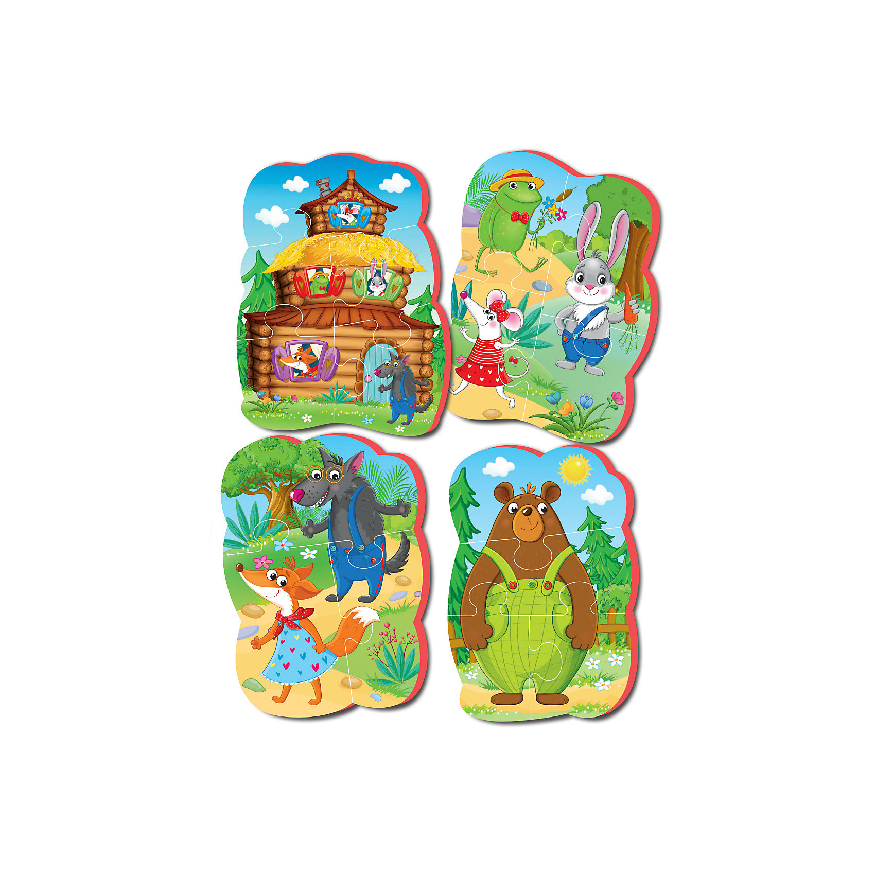Vladi Toys Мягкие пазлы Теремок, Vladi Toys пазлы vladi toys пазлы мягкие baby puzzle сказки репка