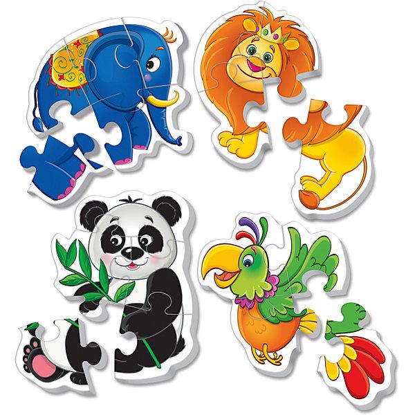 Мягкие пазлы Зоопарк, Vladi ToysПазлы для малышей<br><br>Ширина мм: 155; Глубина мм: 270; Высота мм: 21; Вес г: 35; Возраст от месяцев: 24; Возраст до месяцев: 60; Пол: Унисекс; Возраст: Детский; SKU: 4954034;