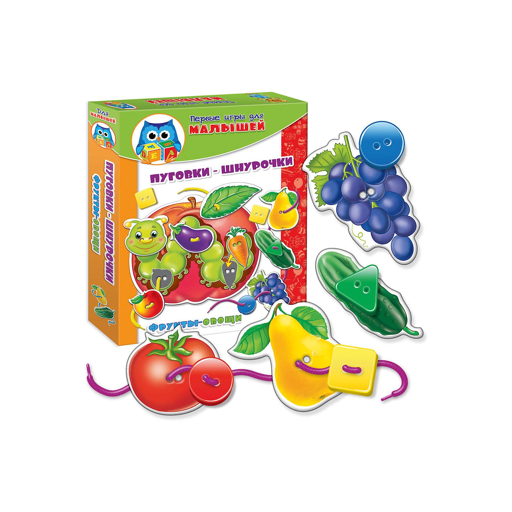 Набор развивающих игр Фрукты-овощи, Vladi Toys<br><br>Ширина мм: 195<br>Глубина мм: 245<br>Высота мм: 35<br>Вес г: 168<br>Возраст от месяцев: 24<br>Возраст до месяцев: 60<br>Пол: Унисекс<br>Возраст: Детский<br>SKU: 4954059